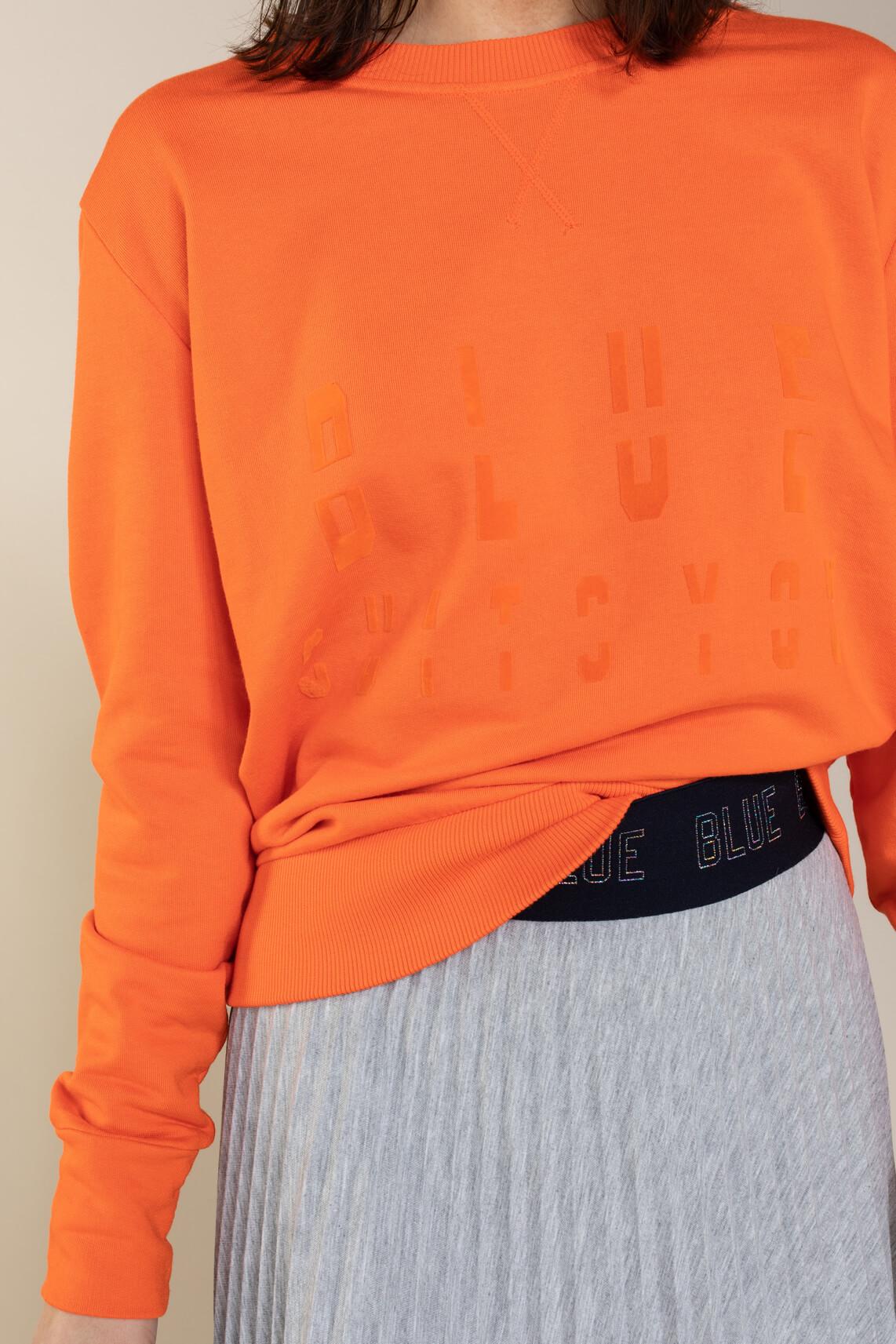 Anna Blue Dames Sweater Blue suits you Oranje