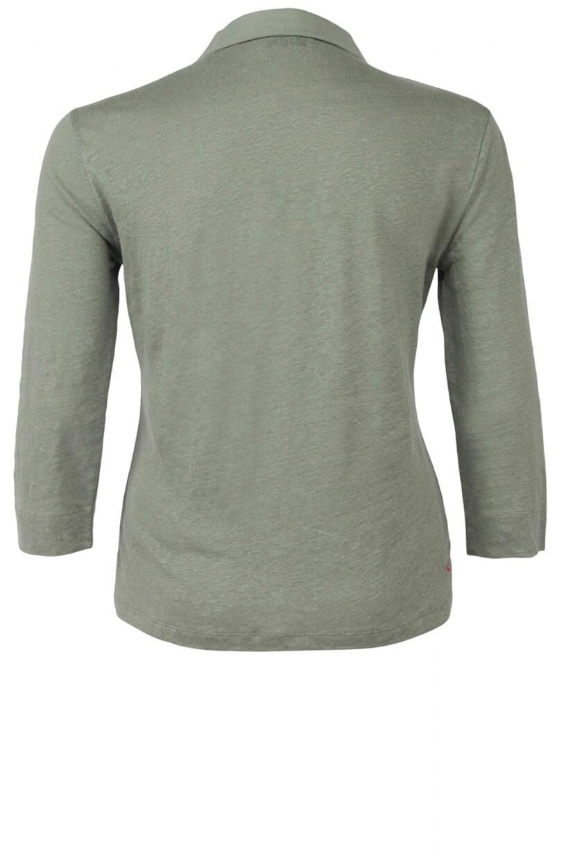 Anna Blue Dames Linnen blouseshirt Groen
