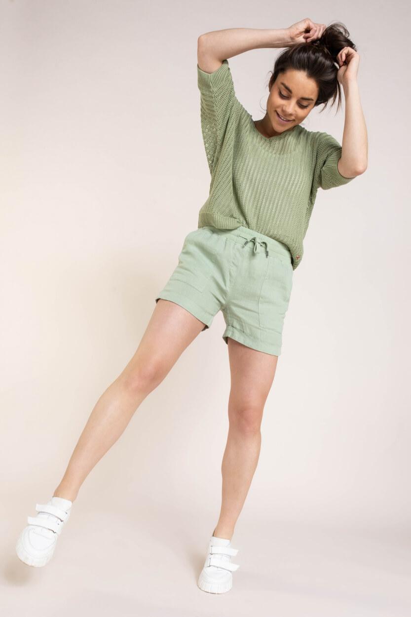 Anna Blue Dames Ajour pullover Groen