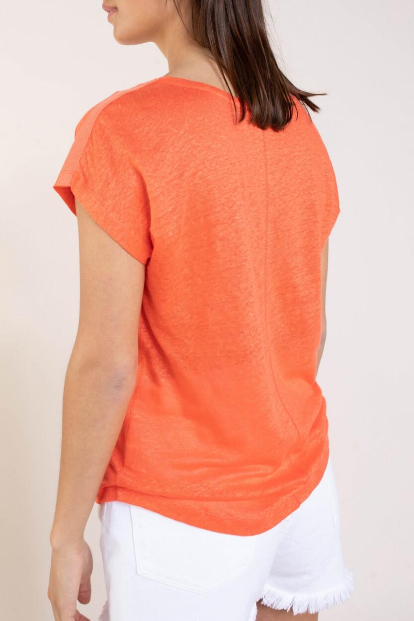 Anna Blue Dames Linnen shirt Roze
