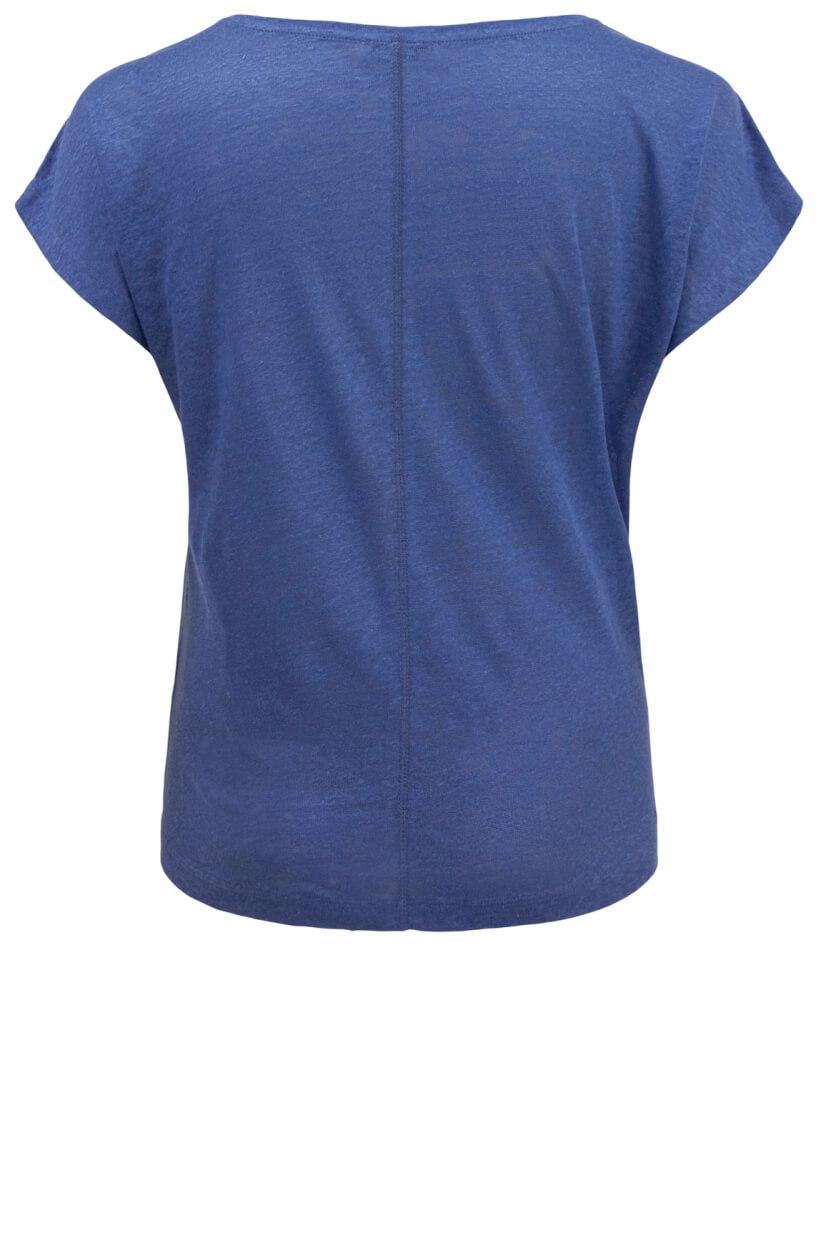 Anna Blue Dames Linnen shirt Blauw