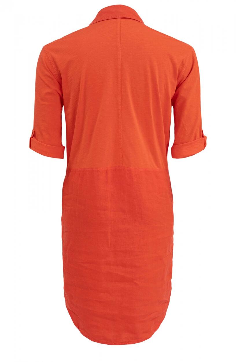 Anna Blue Dames Linnen jurk Oranje