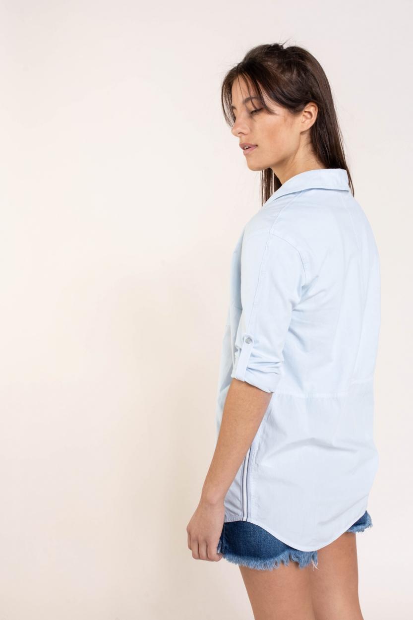 Anna Blue Dames Blouse met streepdetail Blauw