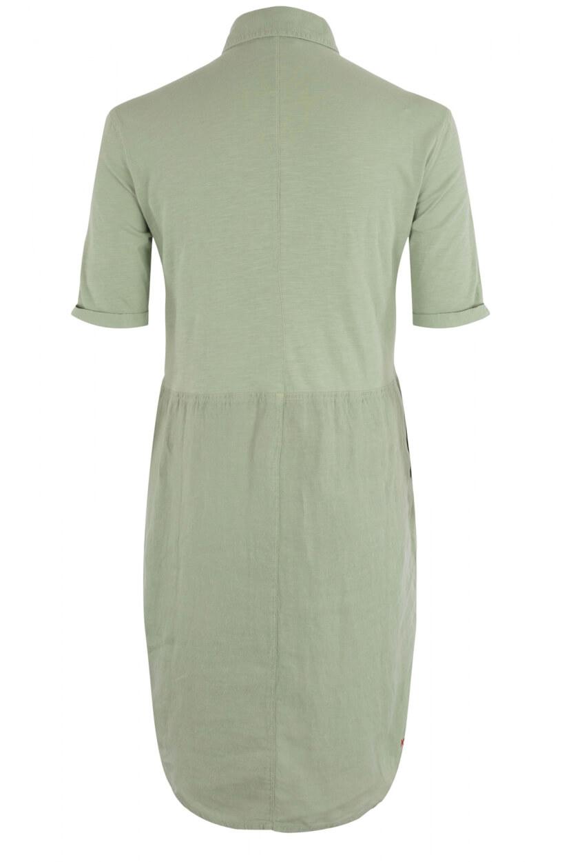 Anna Blue Dames Linnen jurk Groen