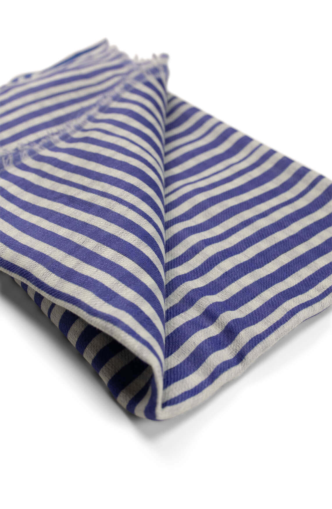 Anna Blue Dames Gestreepte shawl Blauw