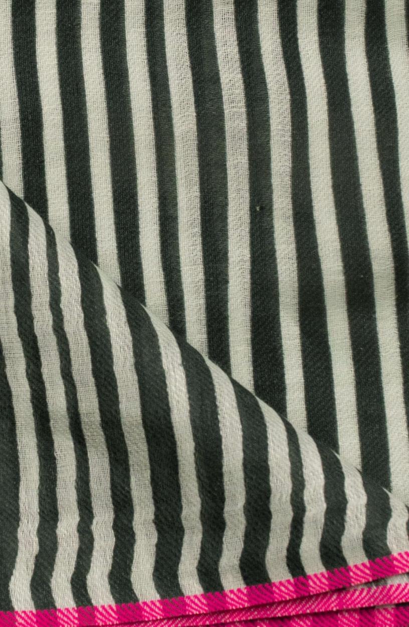 Anna Blue Dames Gestreepte shawl Groen