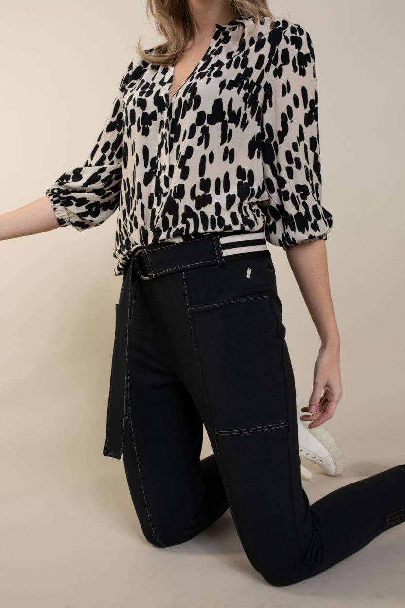 Anna Dames Stretch broek Zwart