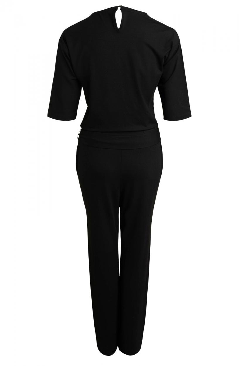 Anna Dames Jumpsuit met knopen Zwart