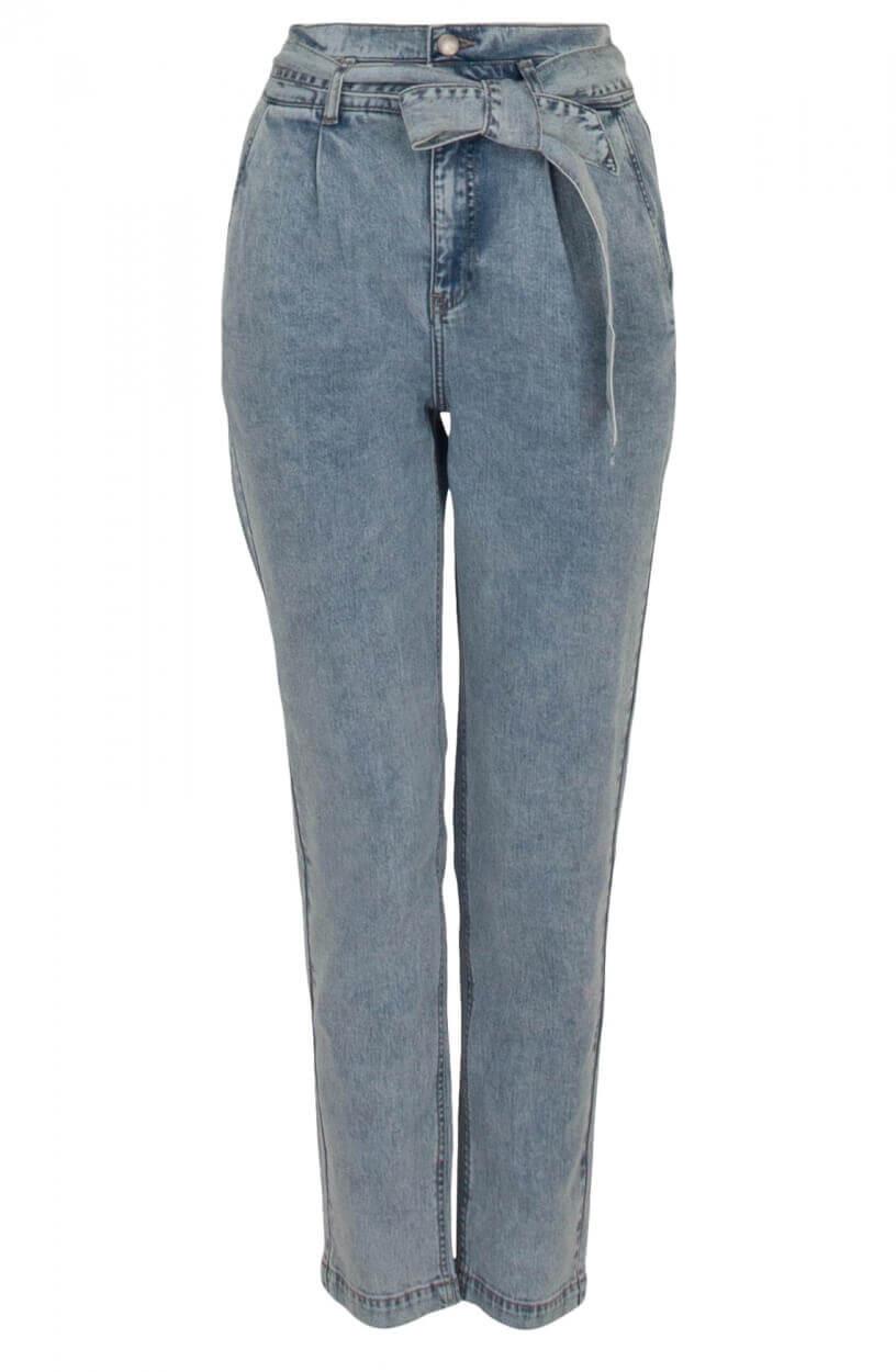 Anna Dames Jeans met ceintuur Blauw