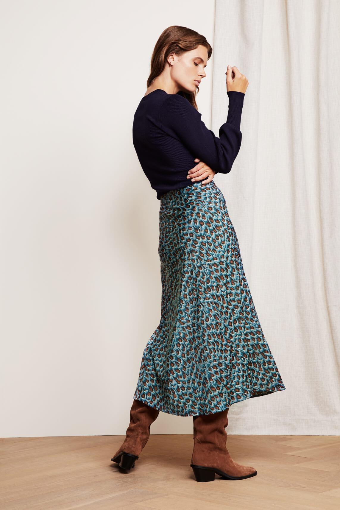 Fabienne Chapot Dames Claire rok Blauw
