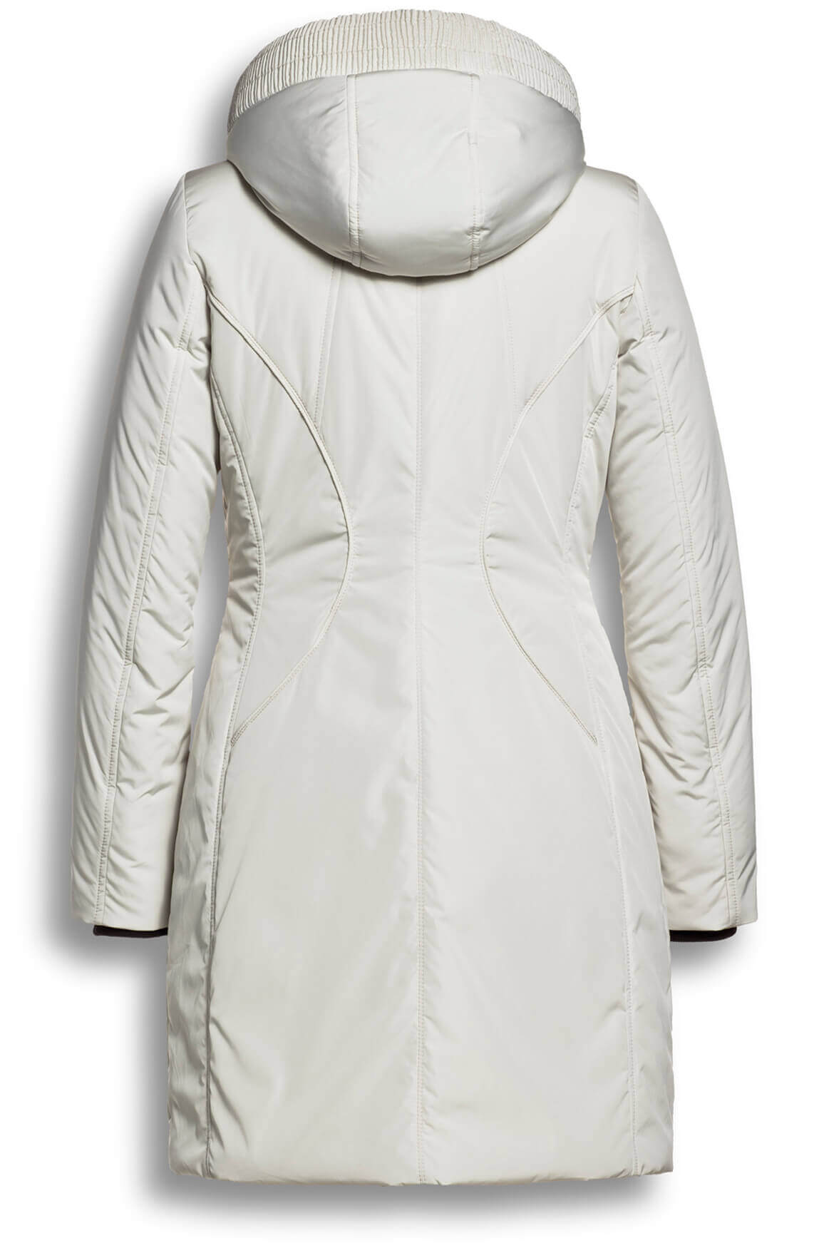Creenstone Dames Gewatteerde jas met capuchon wit