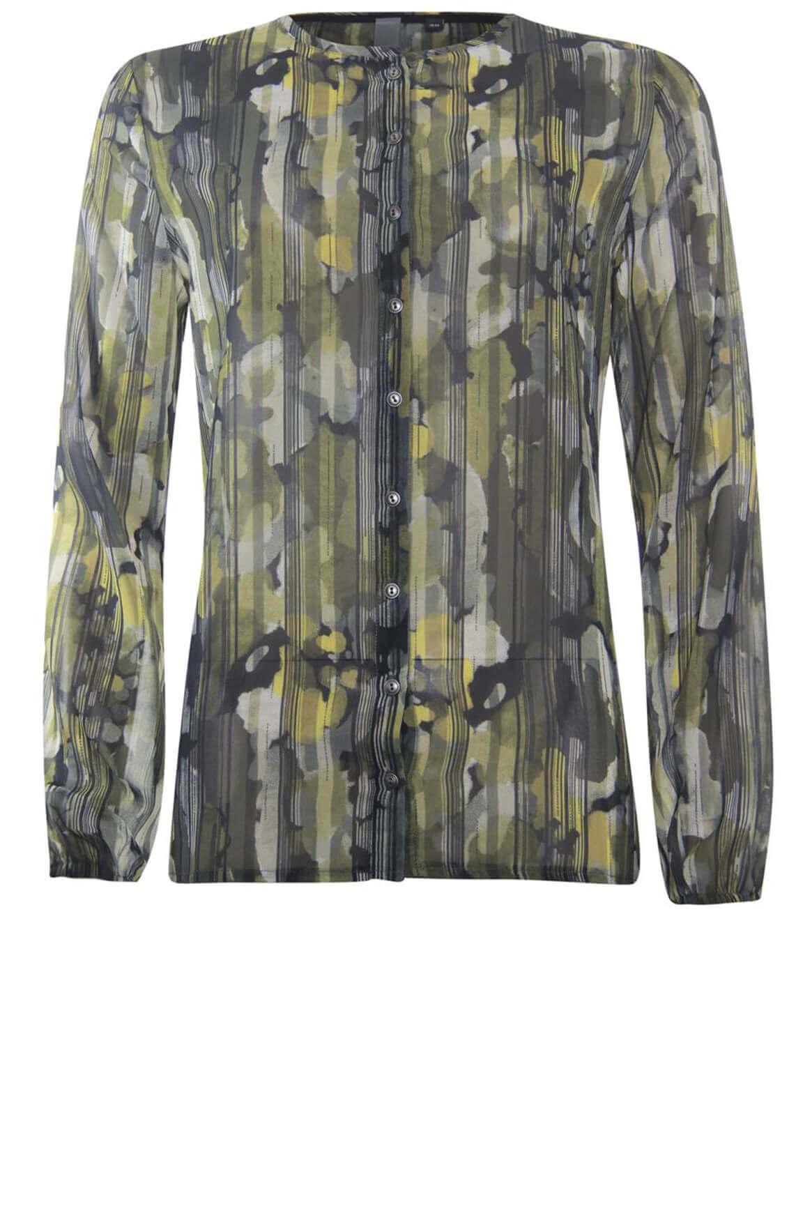 Poools Dames Geweven blouse groen