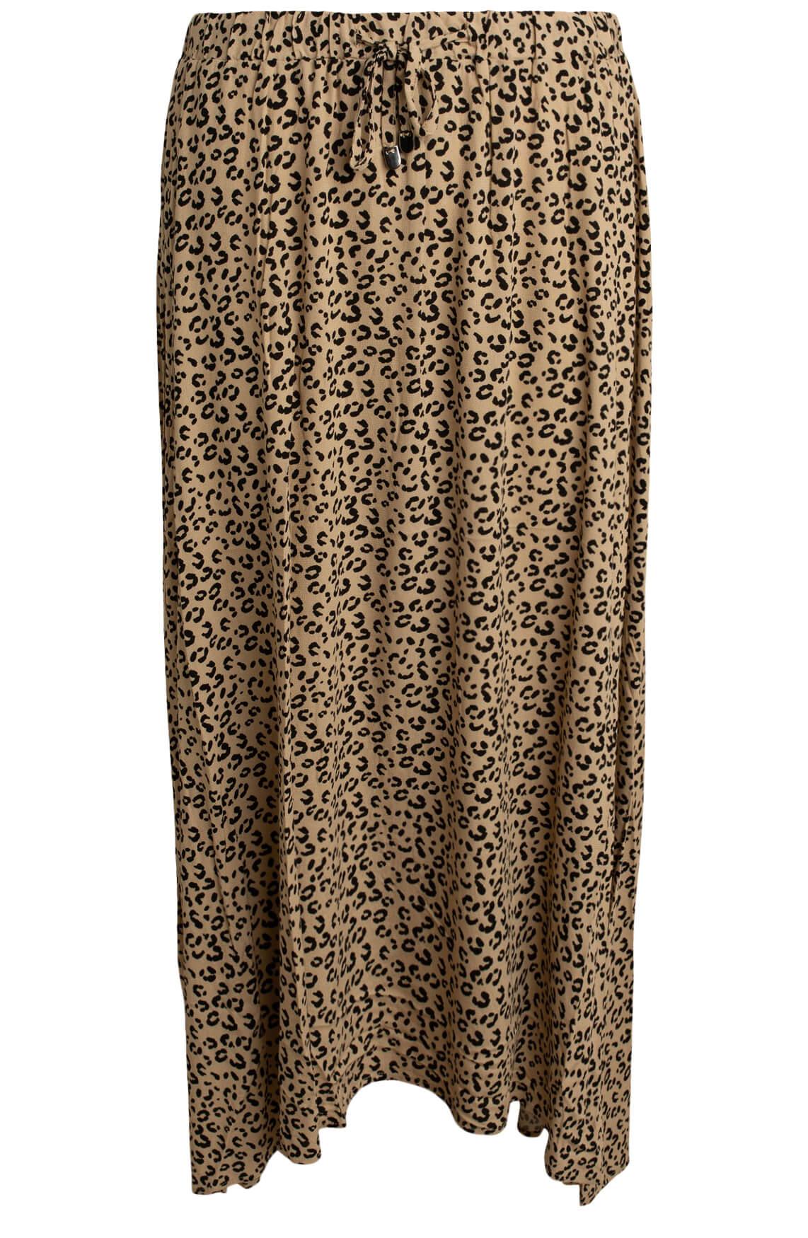 Anna Dames Leopard rok Bruin