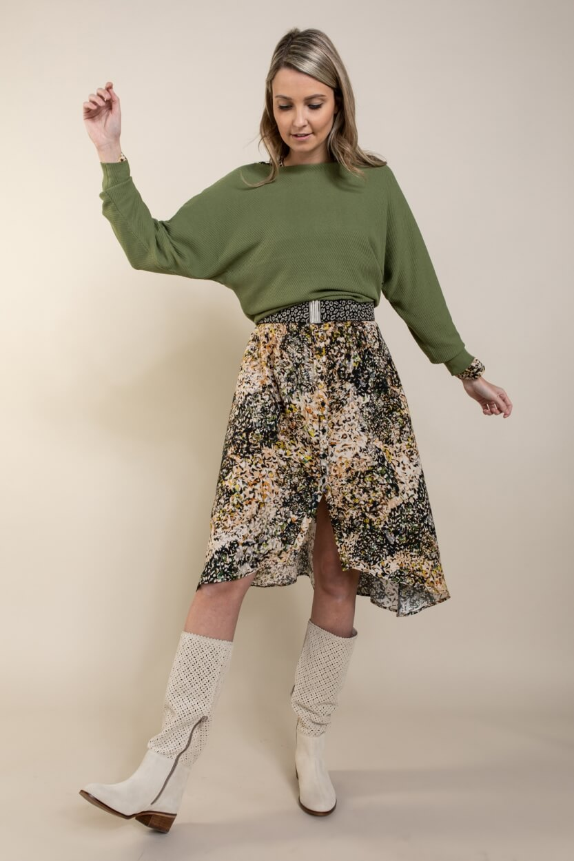 Anna Dames Oversized pullover Groen