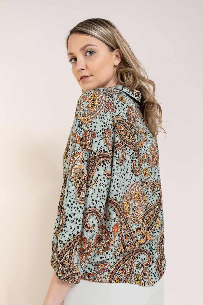 Anna Dames Paisley blouse Blauw