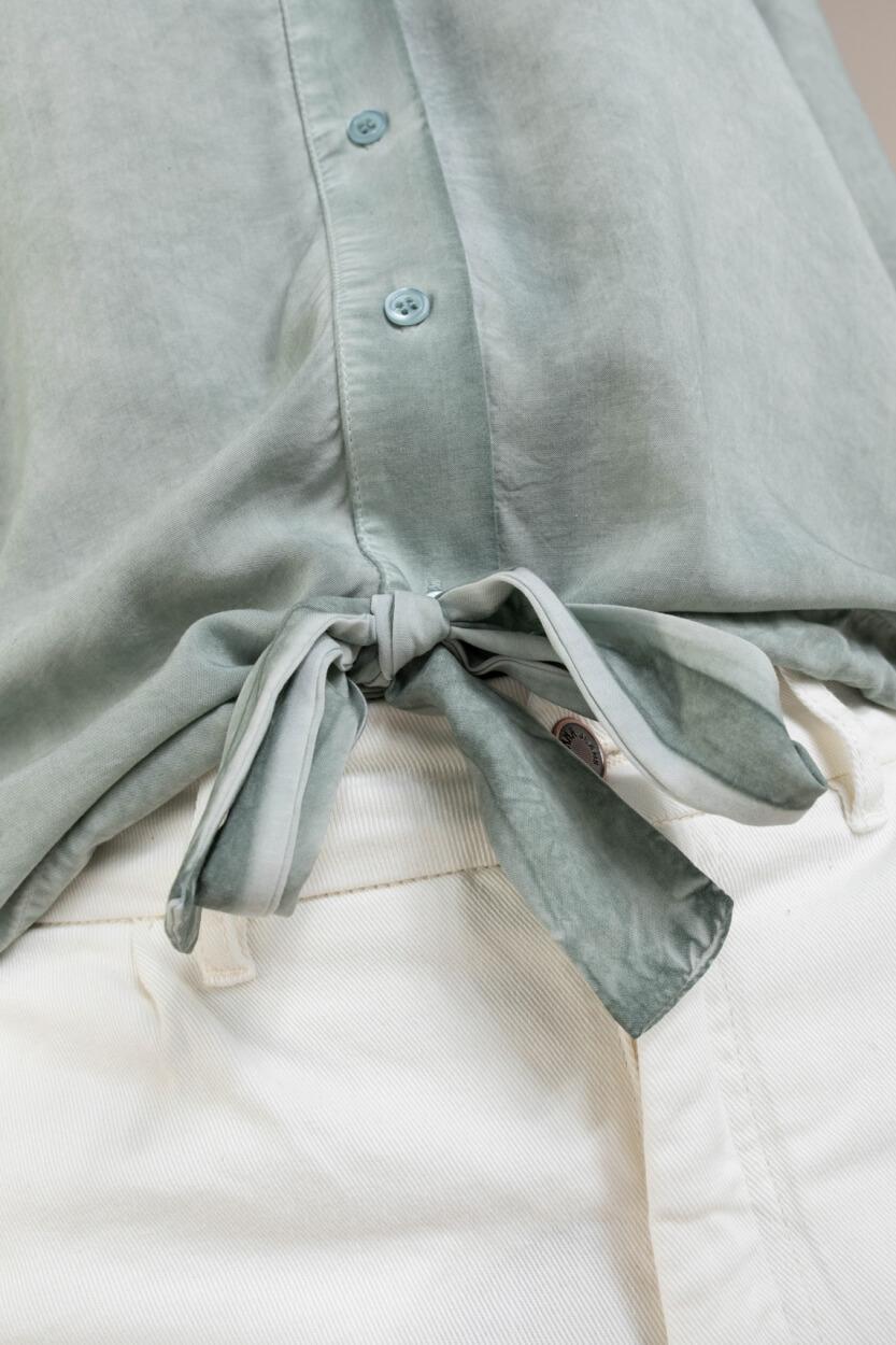 Anna Dames Blouse met strikdetail Blauw