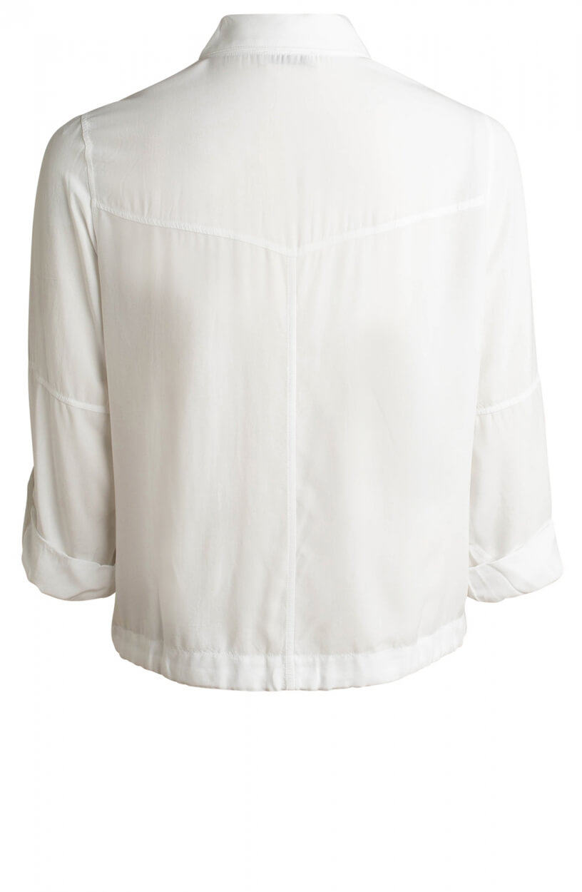 Anna Dames Blouse met strikdetail Wit