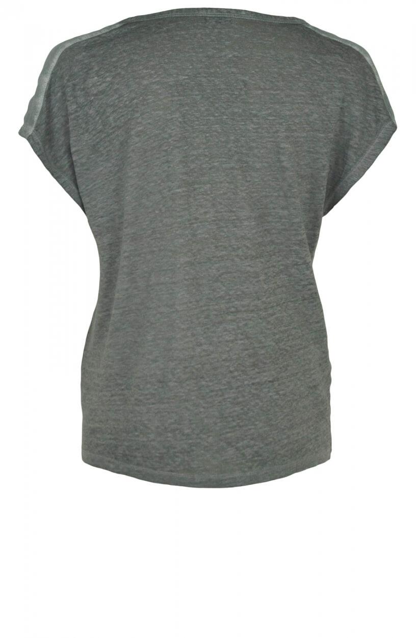 Anna Dames Garment dye shirt Groen