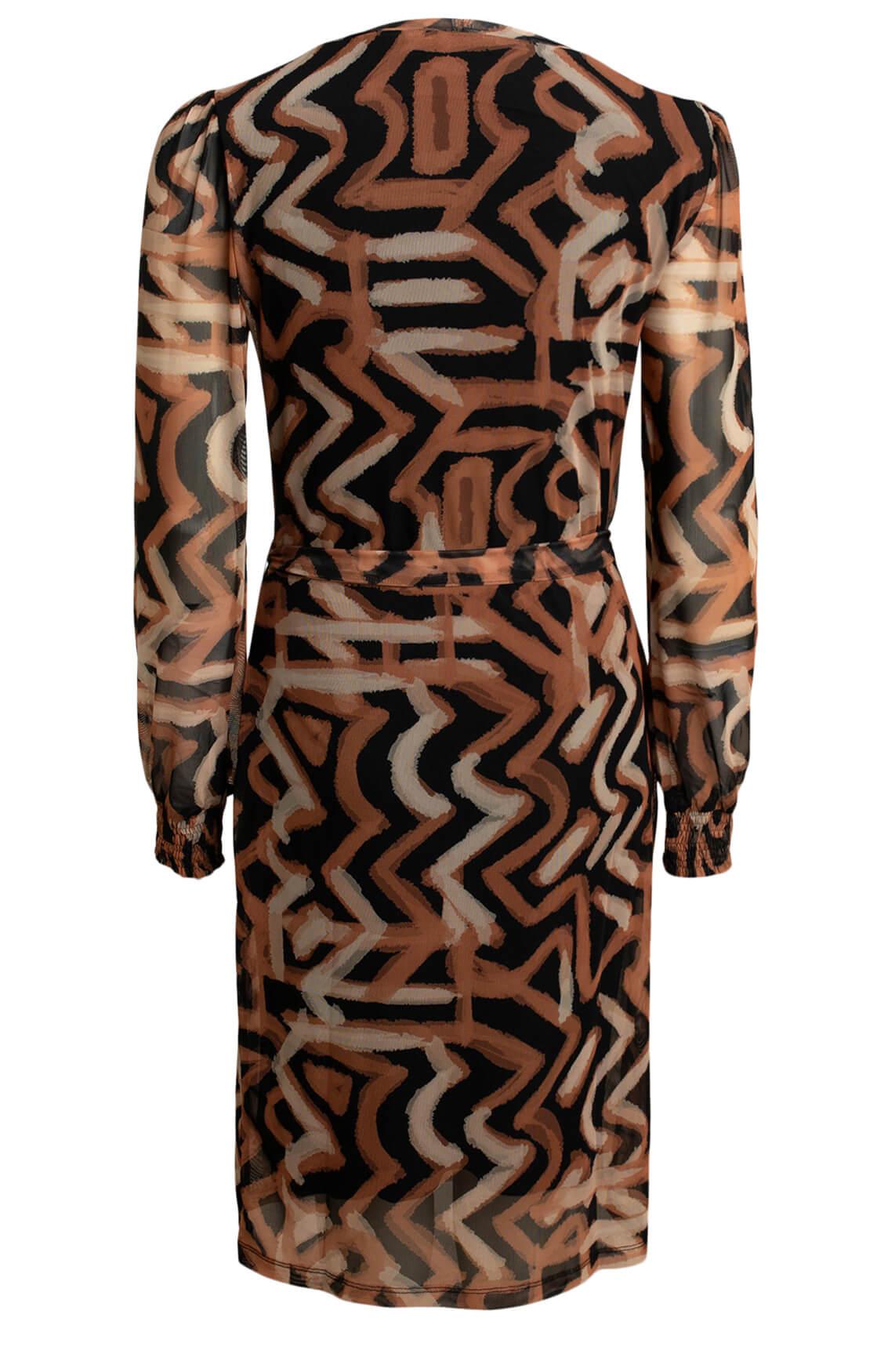 Anna Dames Mesh jurk Oranje