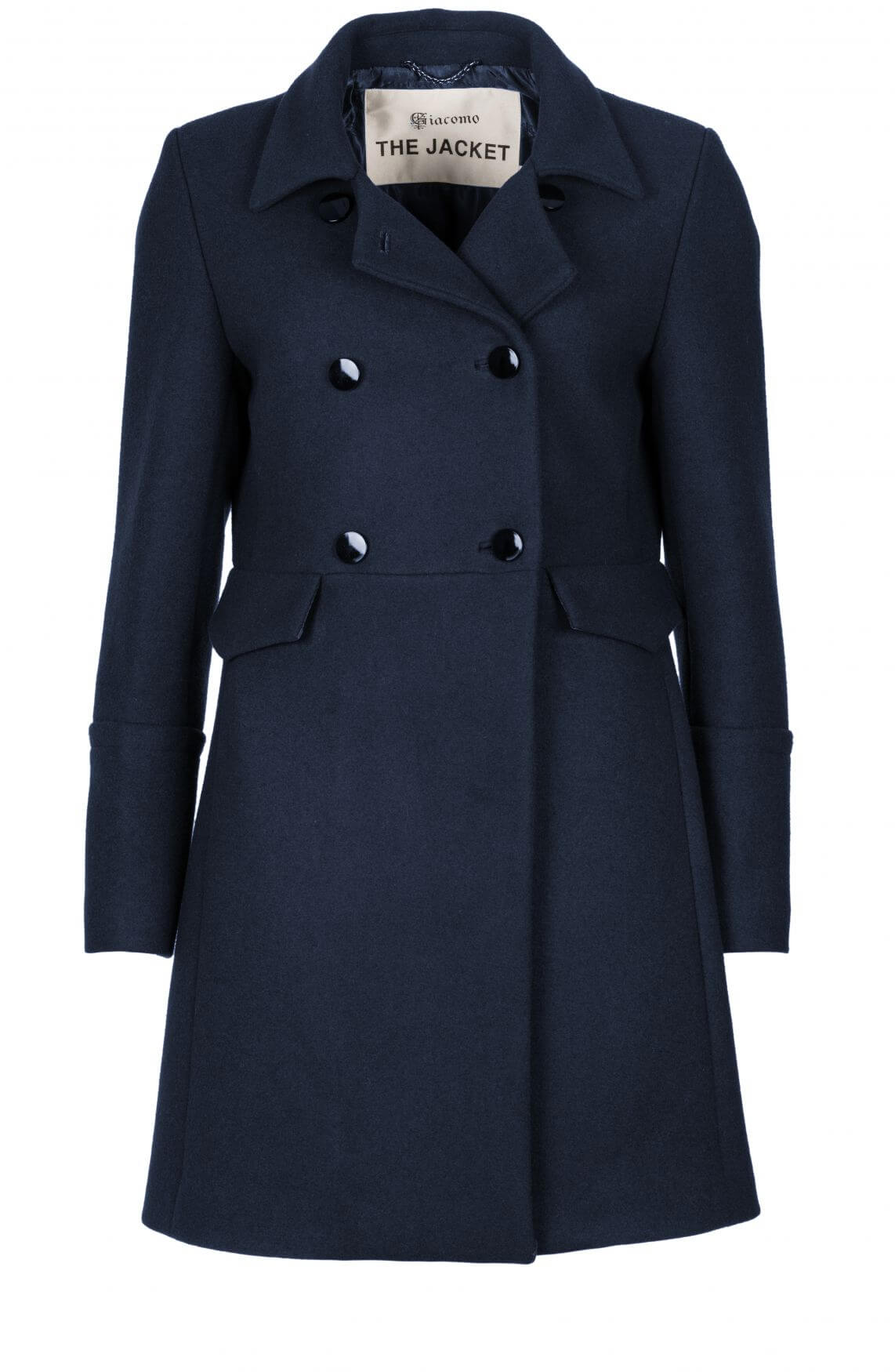 Giacomo Dames Wollen mantel Blauw | Anna van Toor