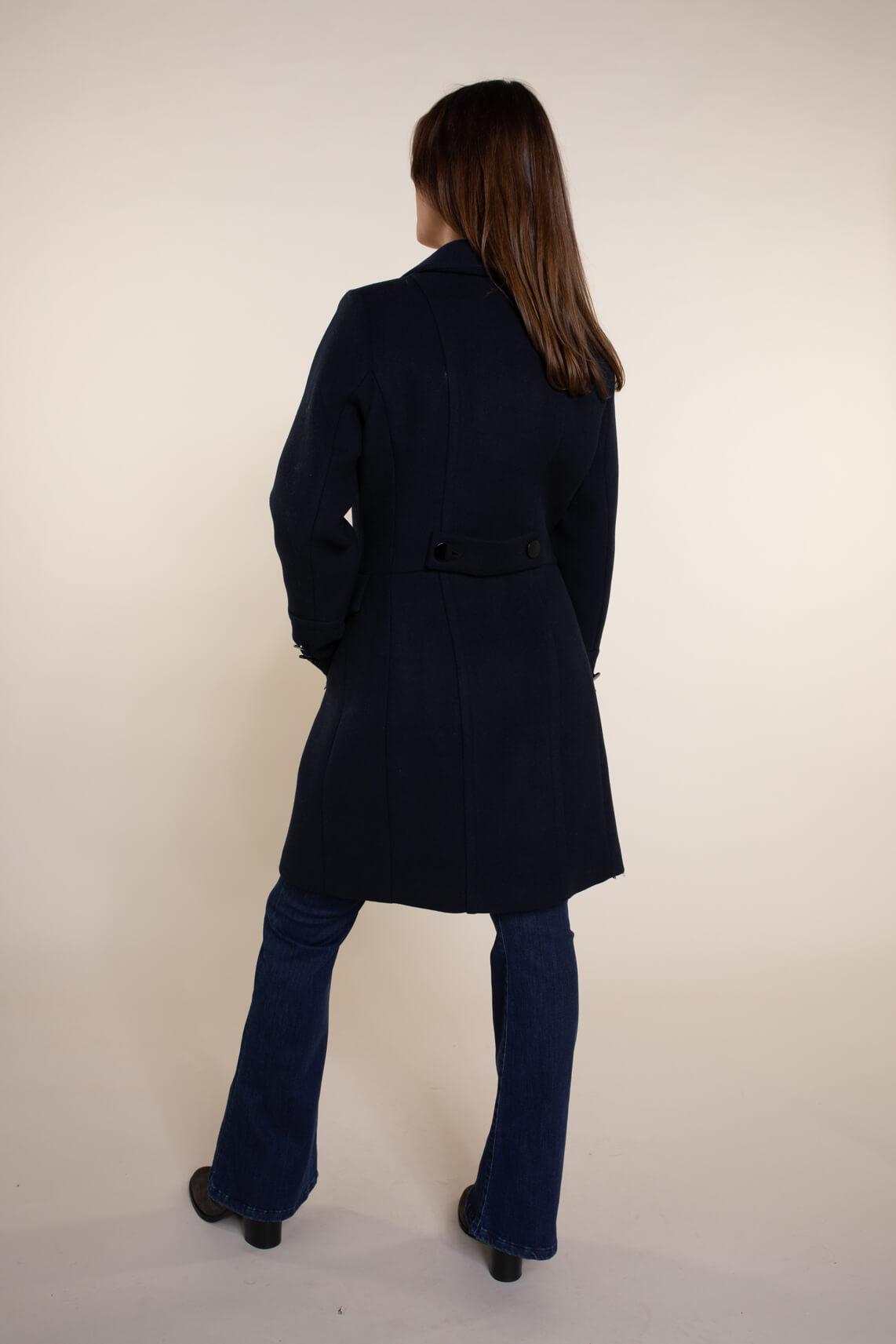 Giacomo Dames Wollen mantel Blauw