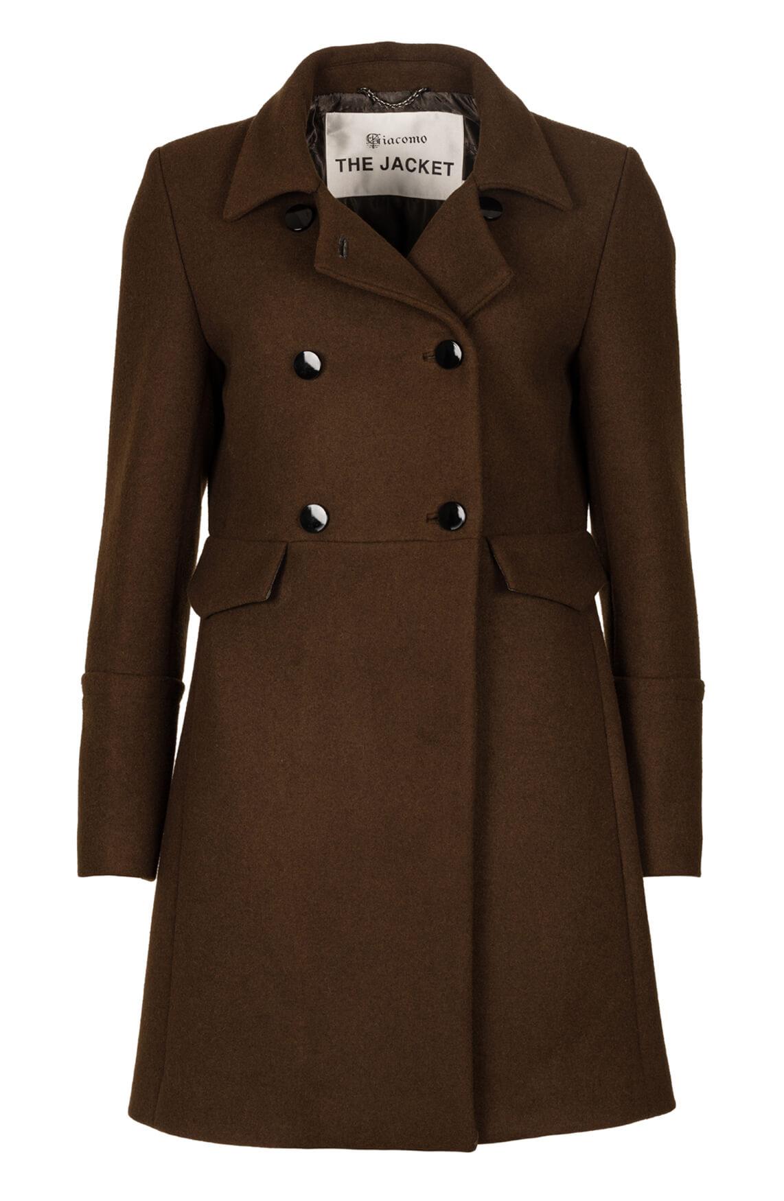 Giacomo Dames Wollen mantel groen