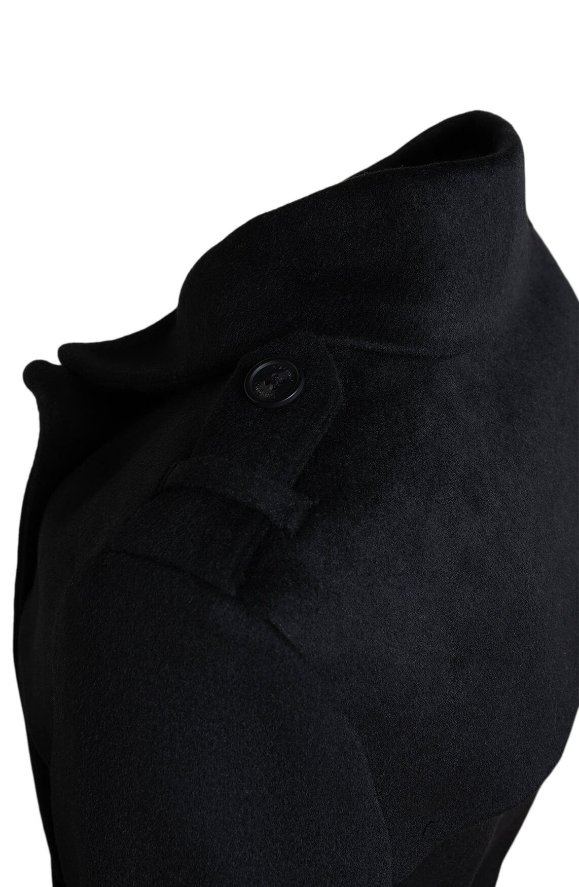 Giacomo Dames Mantel met knopen zwart