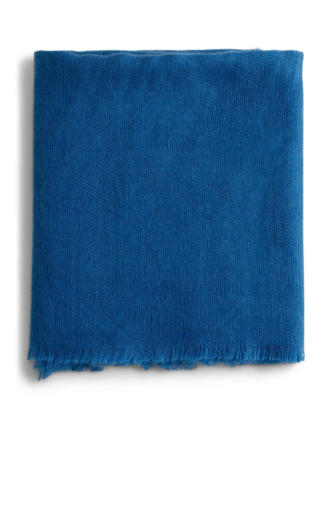 Anna Dames Shawl met franjes Blauw
