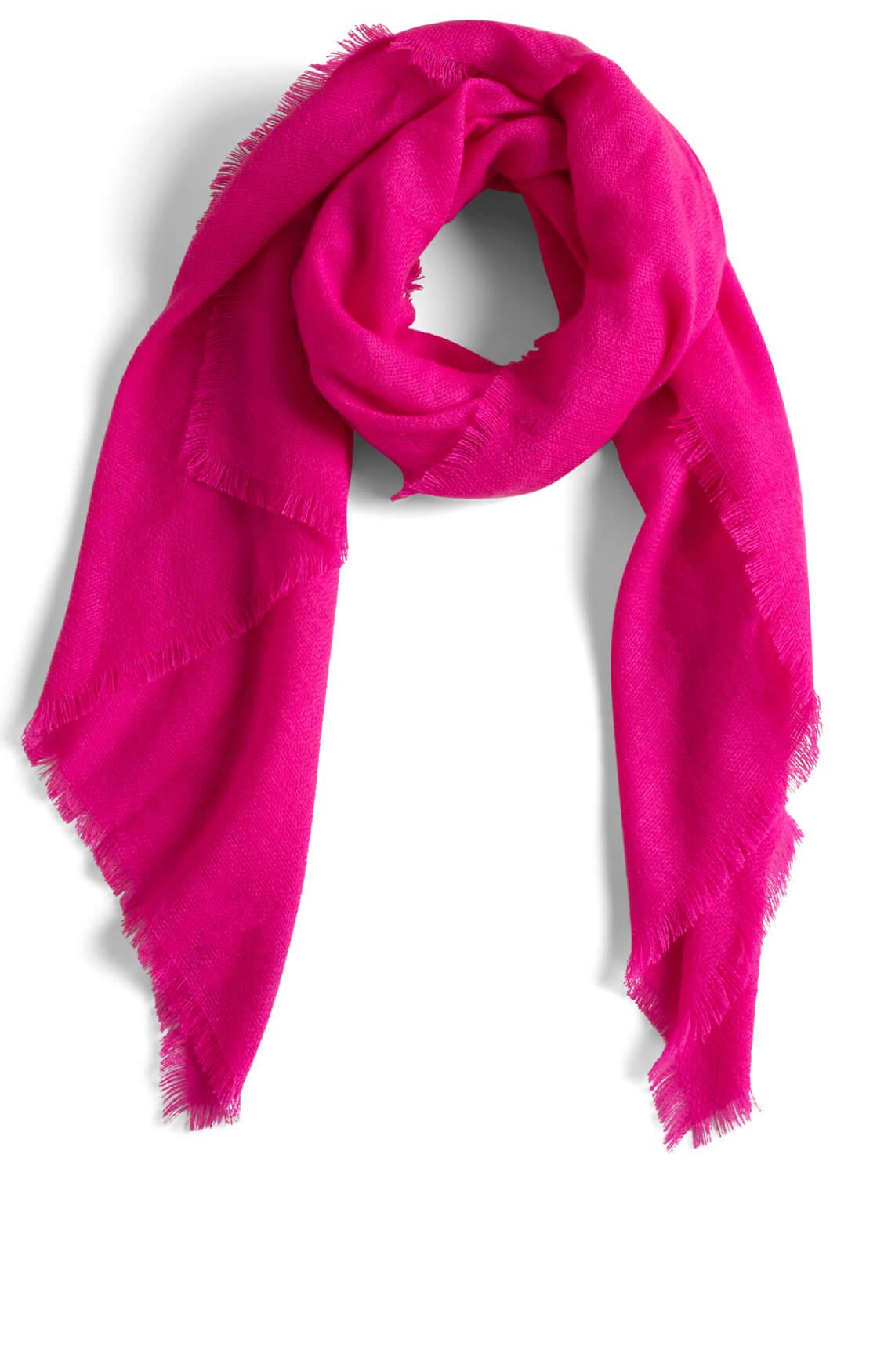 Anna Dames Shawl met franjes roze