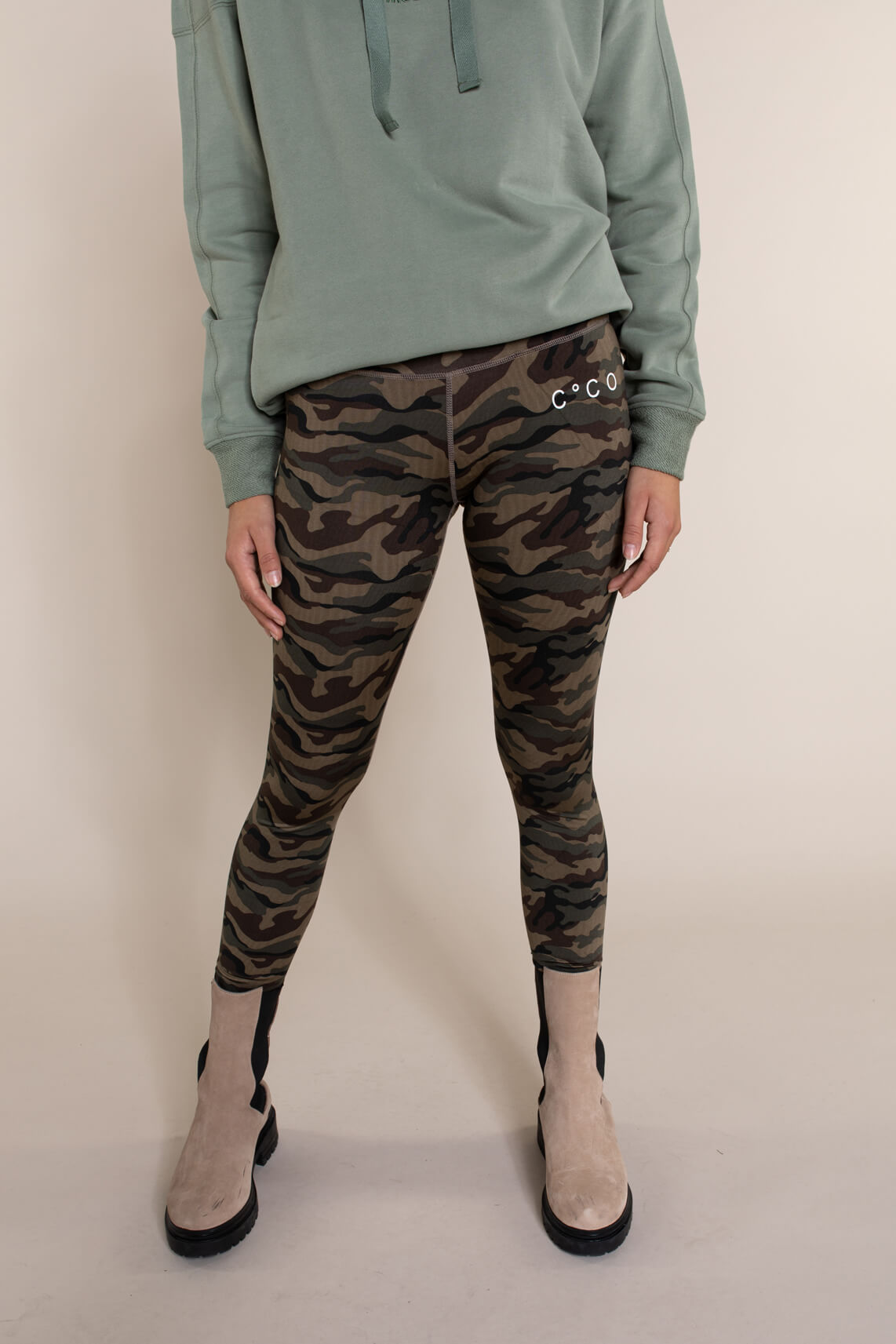 Co Couture Dames Camouflage legging groen