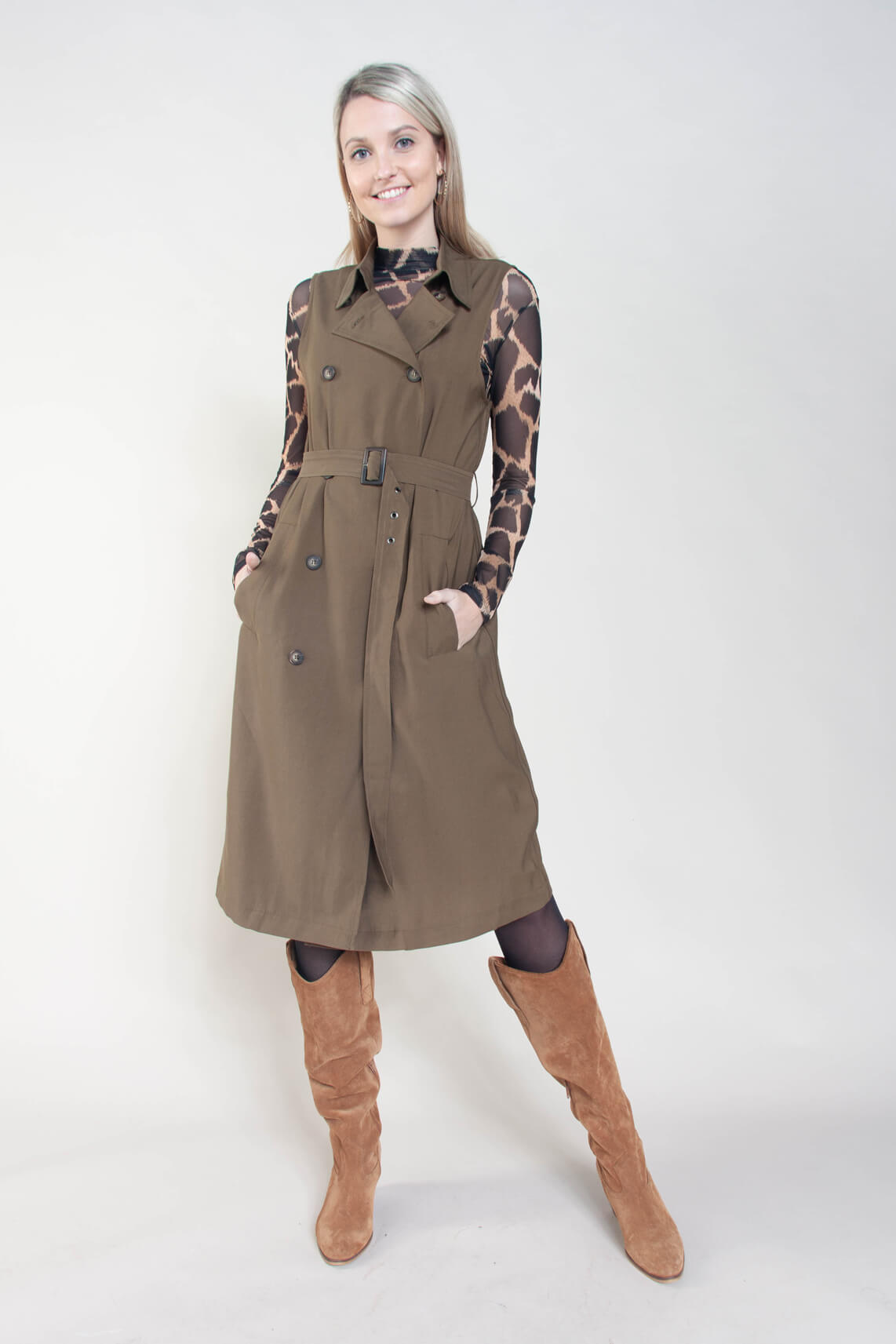 co-couture Dames Tatjana gilet groen