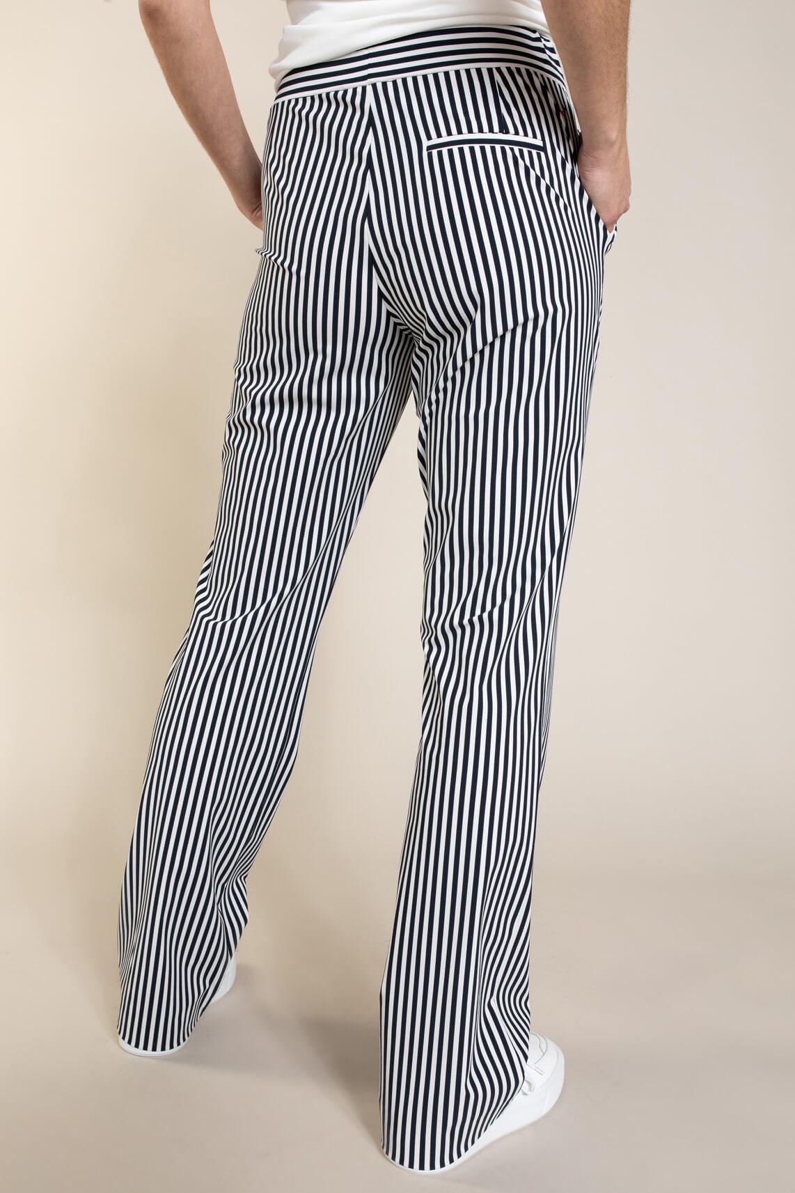 Anna Blue Dames Pantalon van travel kwaliteit Blauw