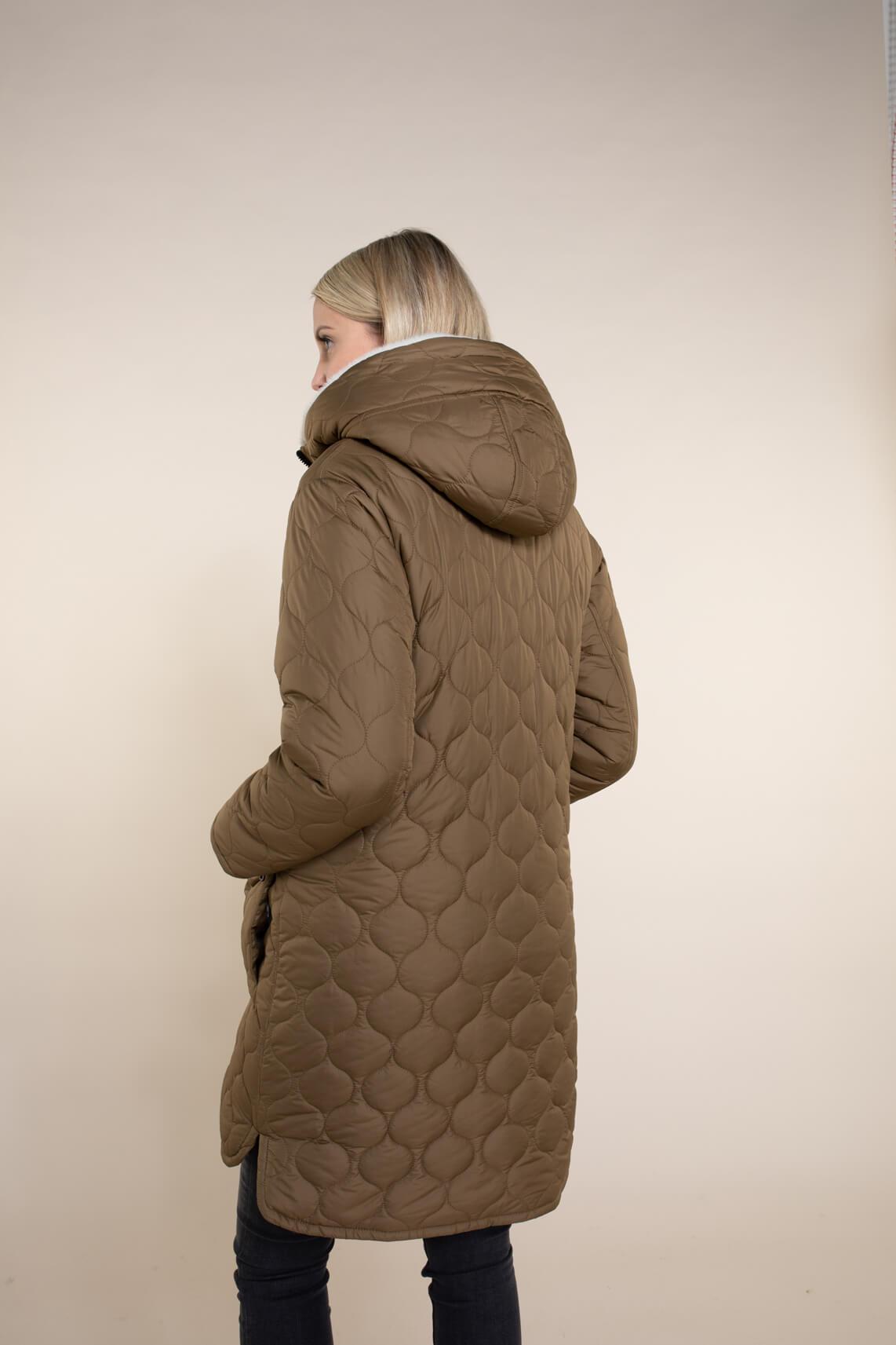 Creenstone Dames Jas met faux fur Bruin