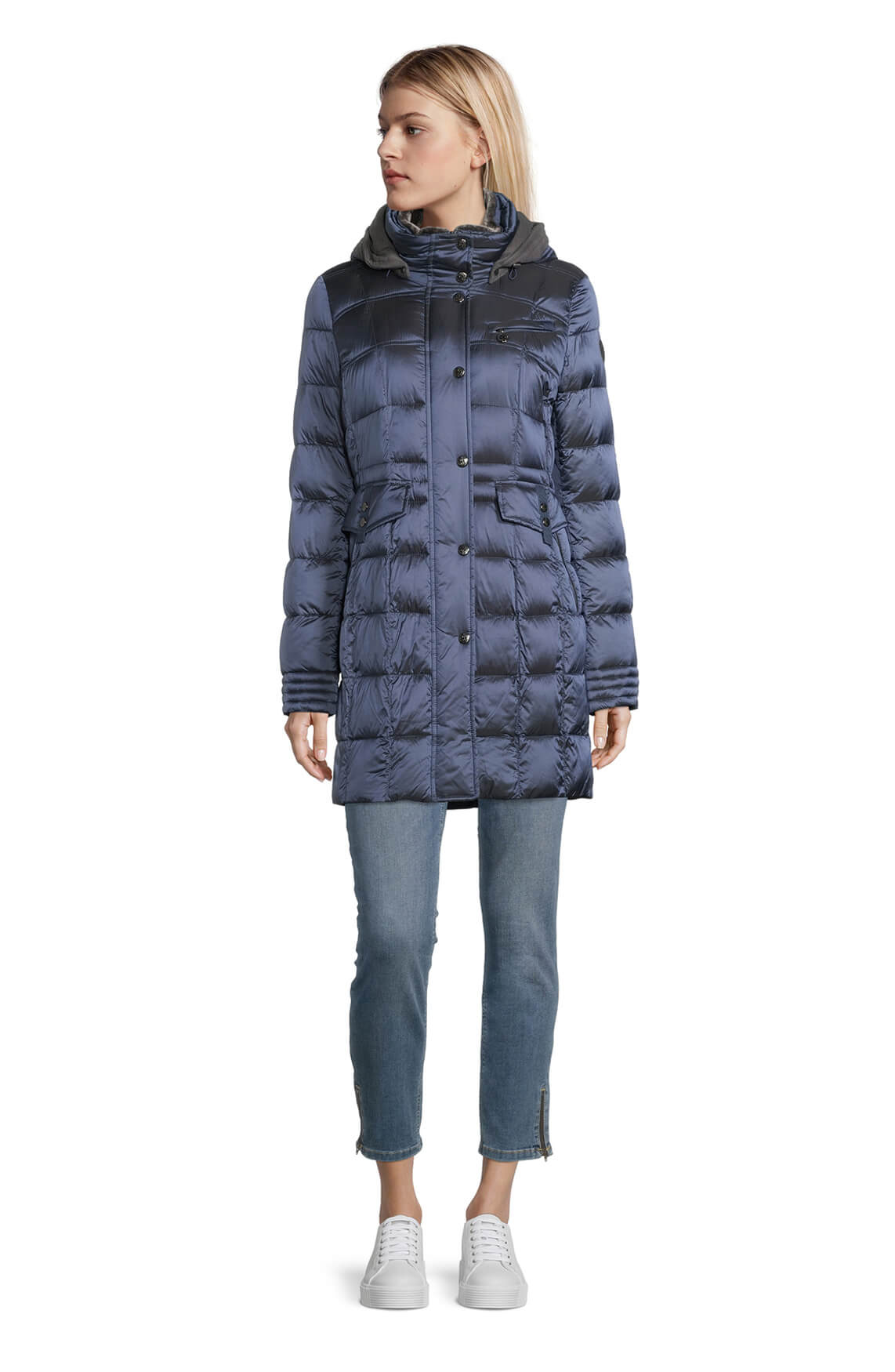 Gil Bret Dames Gewatteerde jas Blauw