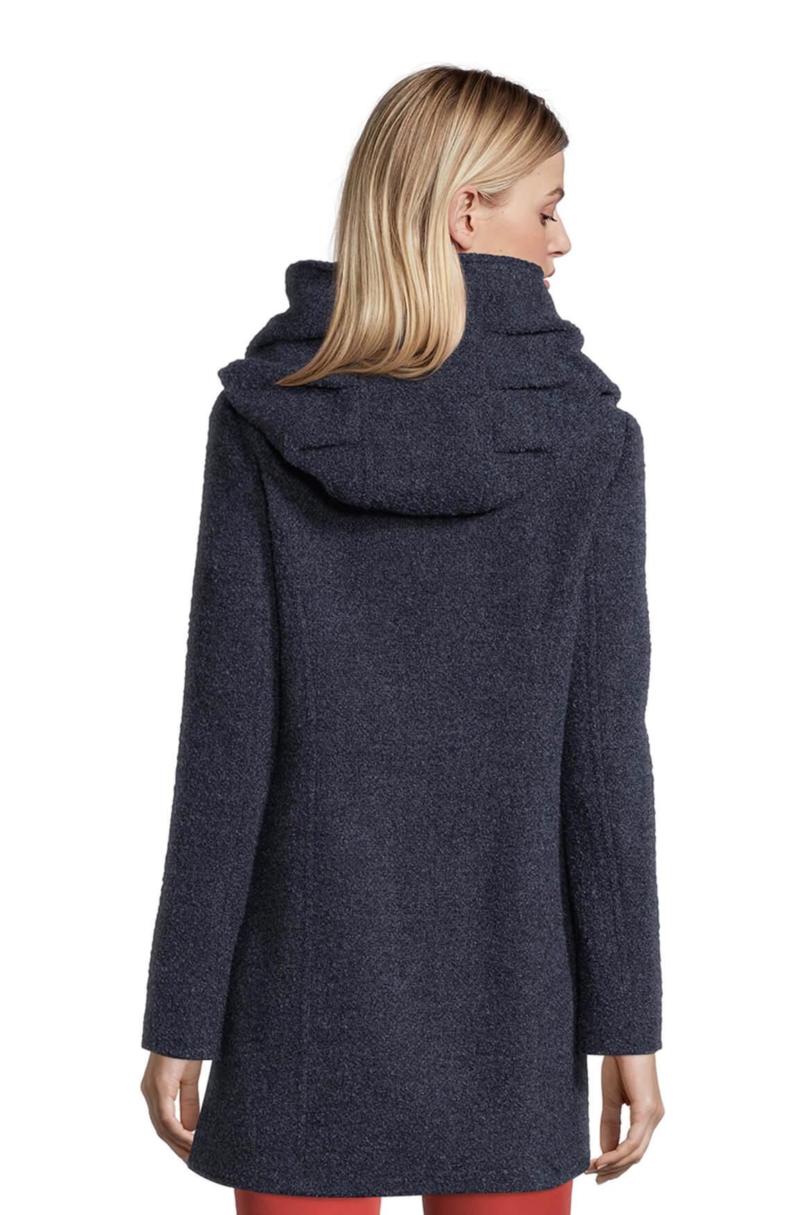Gil Bret Dames Boucle jas met capuchon Blauw