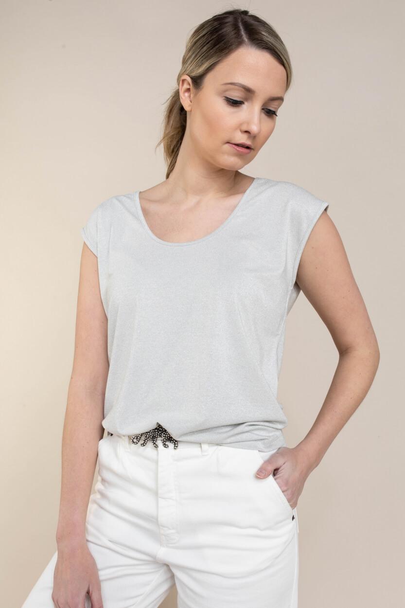 Anna Dames Shirt met glitters Grijs