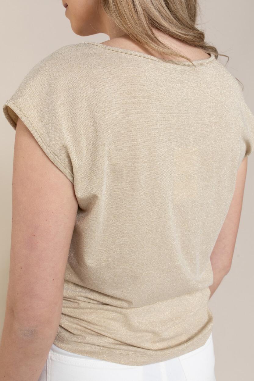 Anna Dames Shirt met glitters Geel