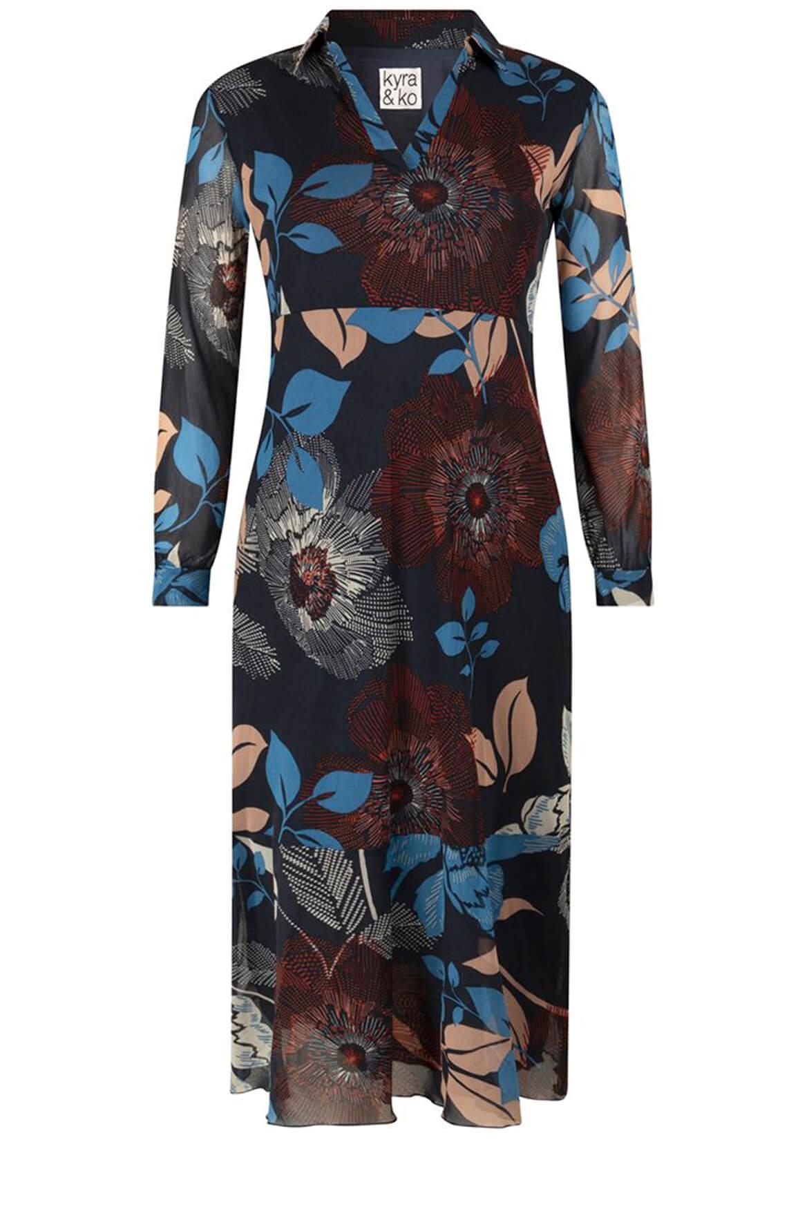 Kyra & Ko Dames Crisanne jurk Blauw