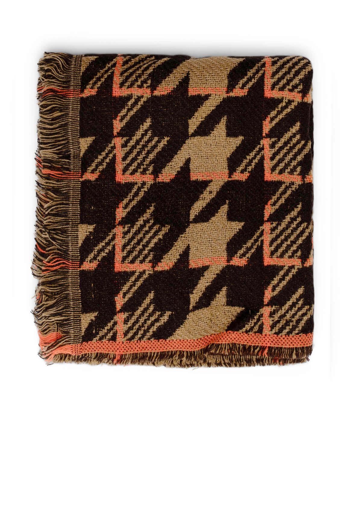 Codello Dames Pied-de-coque shawl Bruin