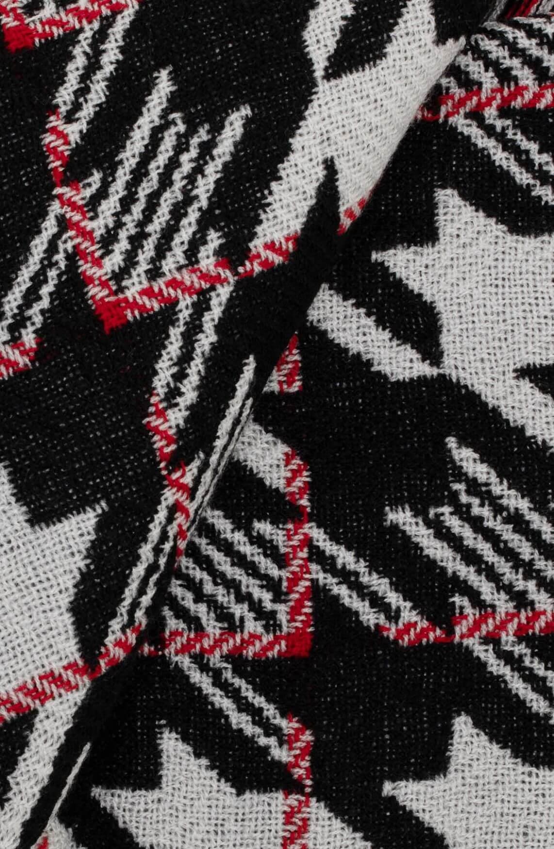 Codello Dames Pied-de-coque shawl zwart