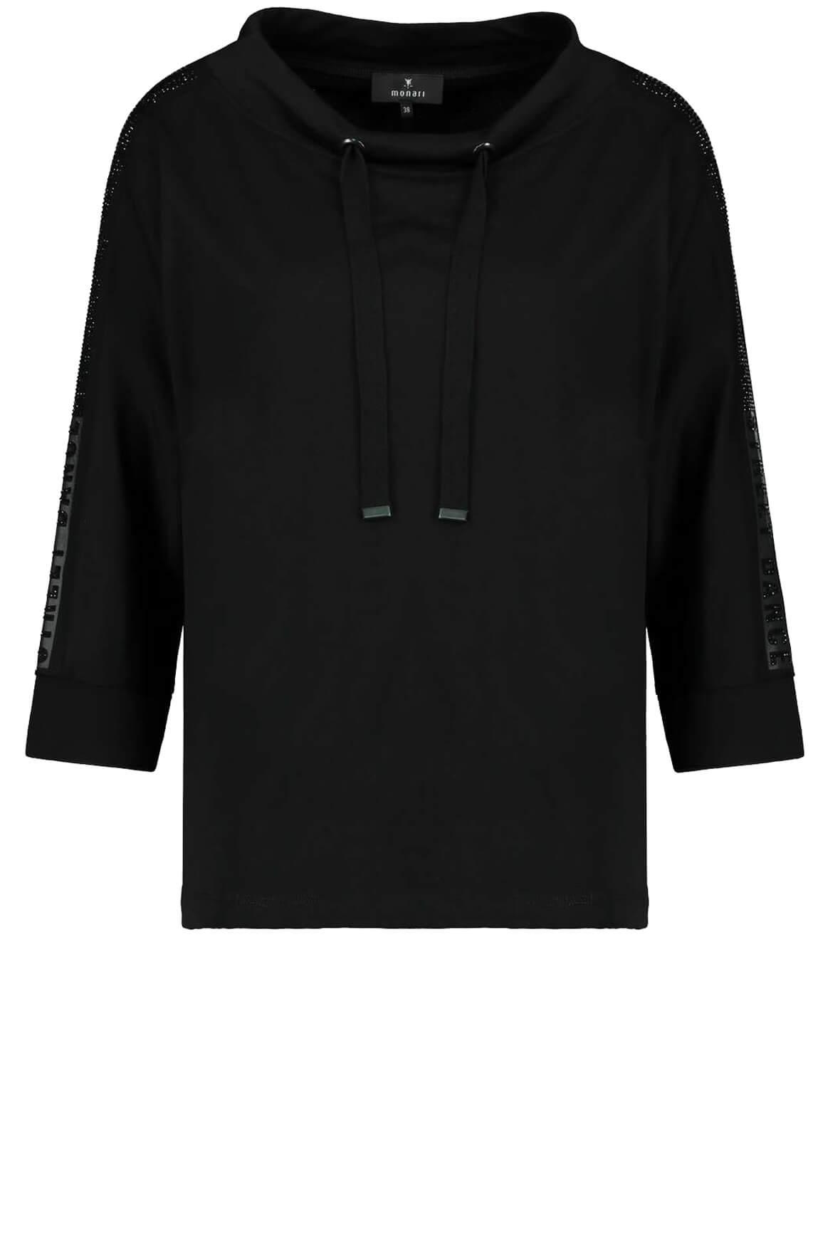 Monari Dames Sweater met studs zwart