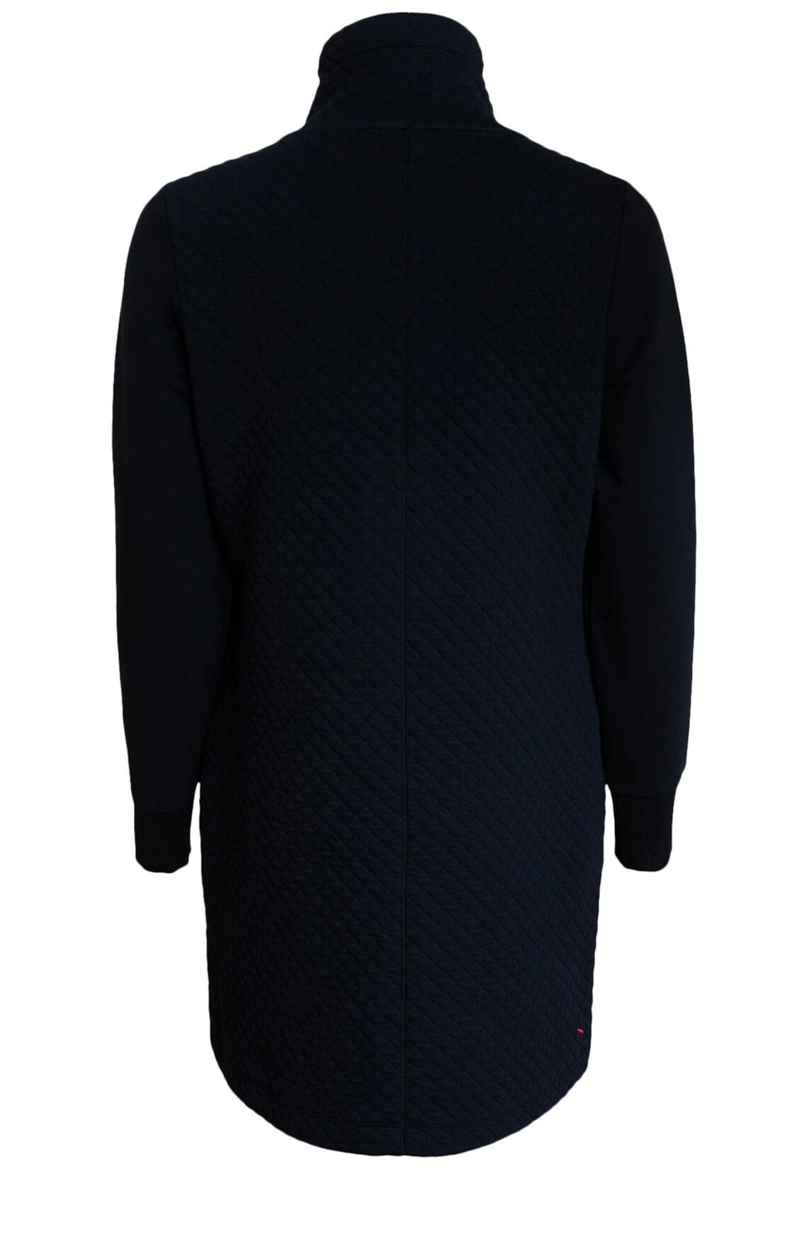 Anna Blue Dames Gestept vest zwart