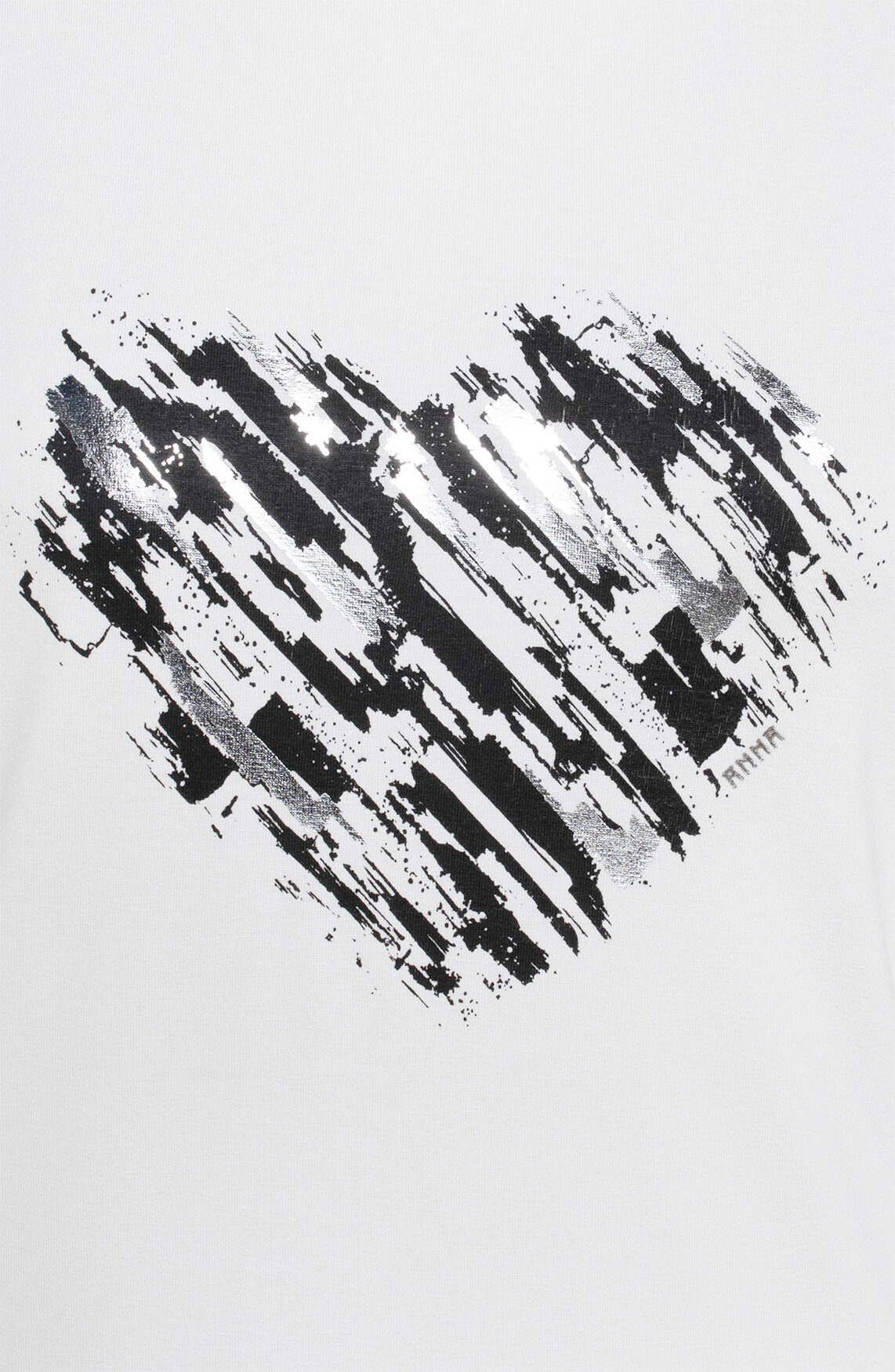 Anna Dames Metallic shirt Wit