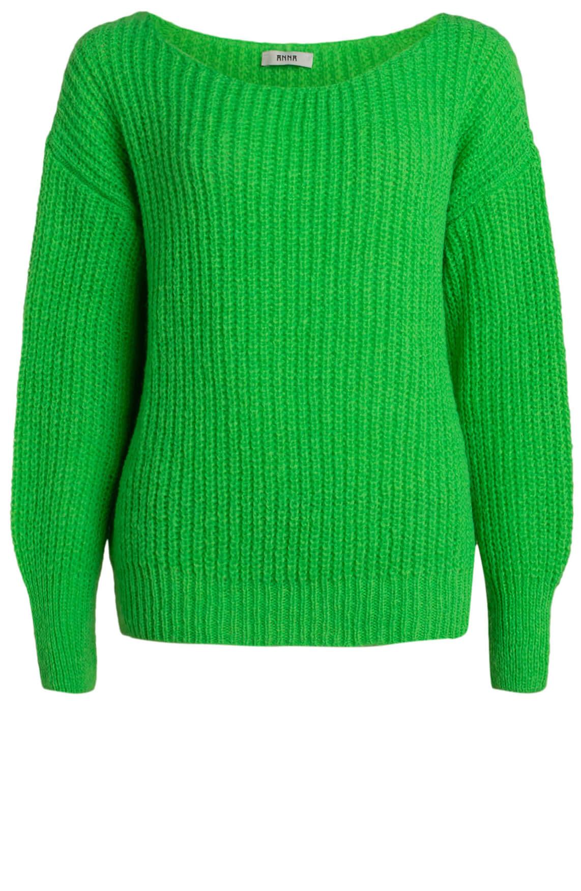 Anna Dames Pullover met wolmix groen