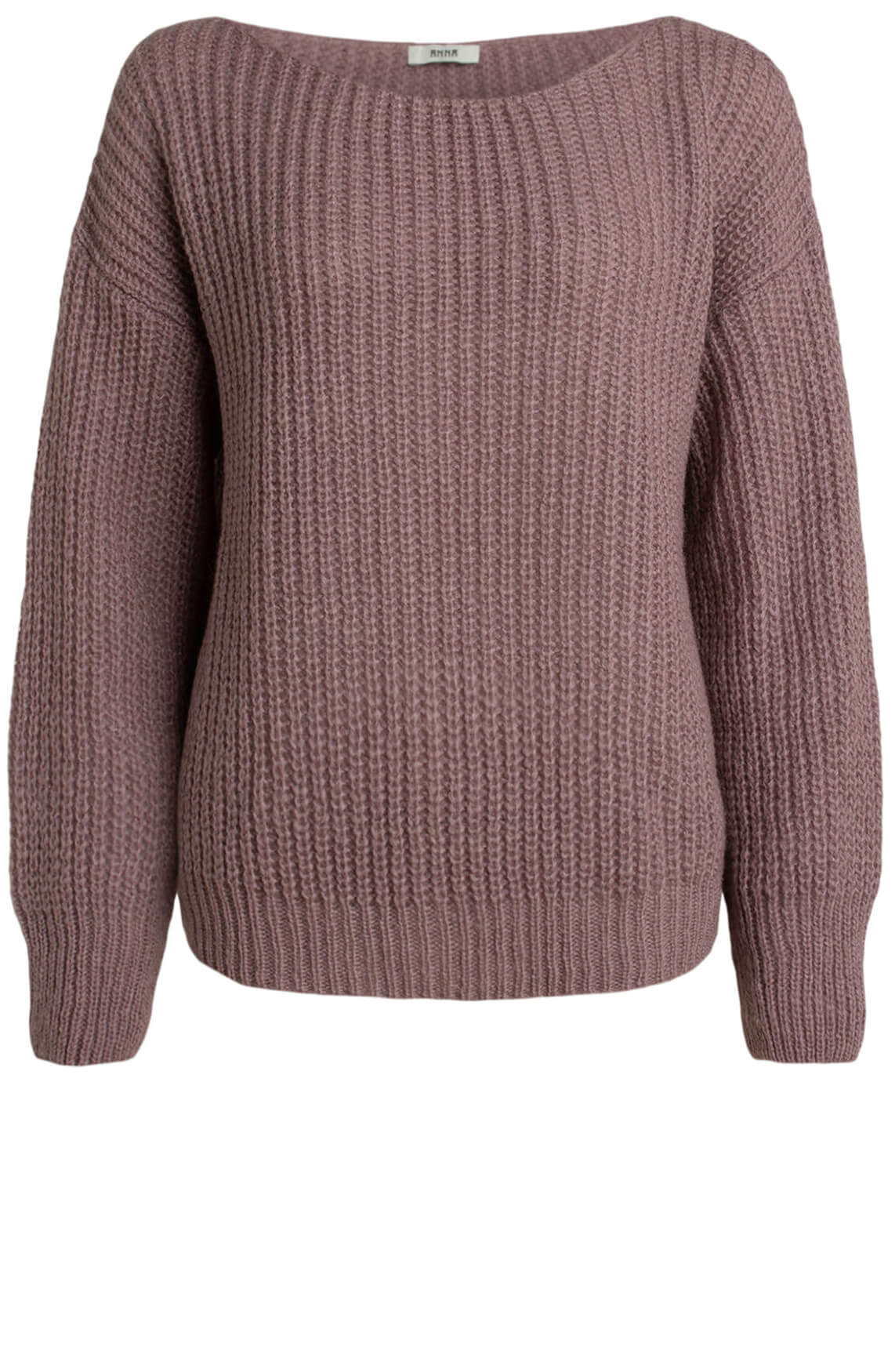 Anna Dames Pullover met wolmix Paars