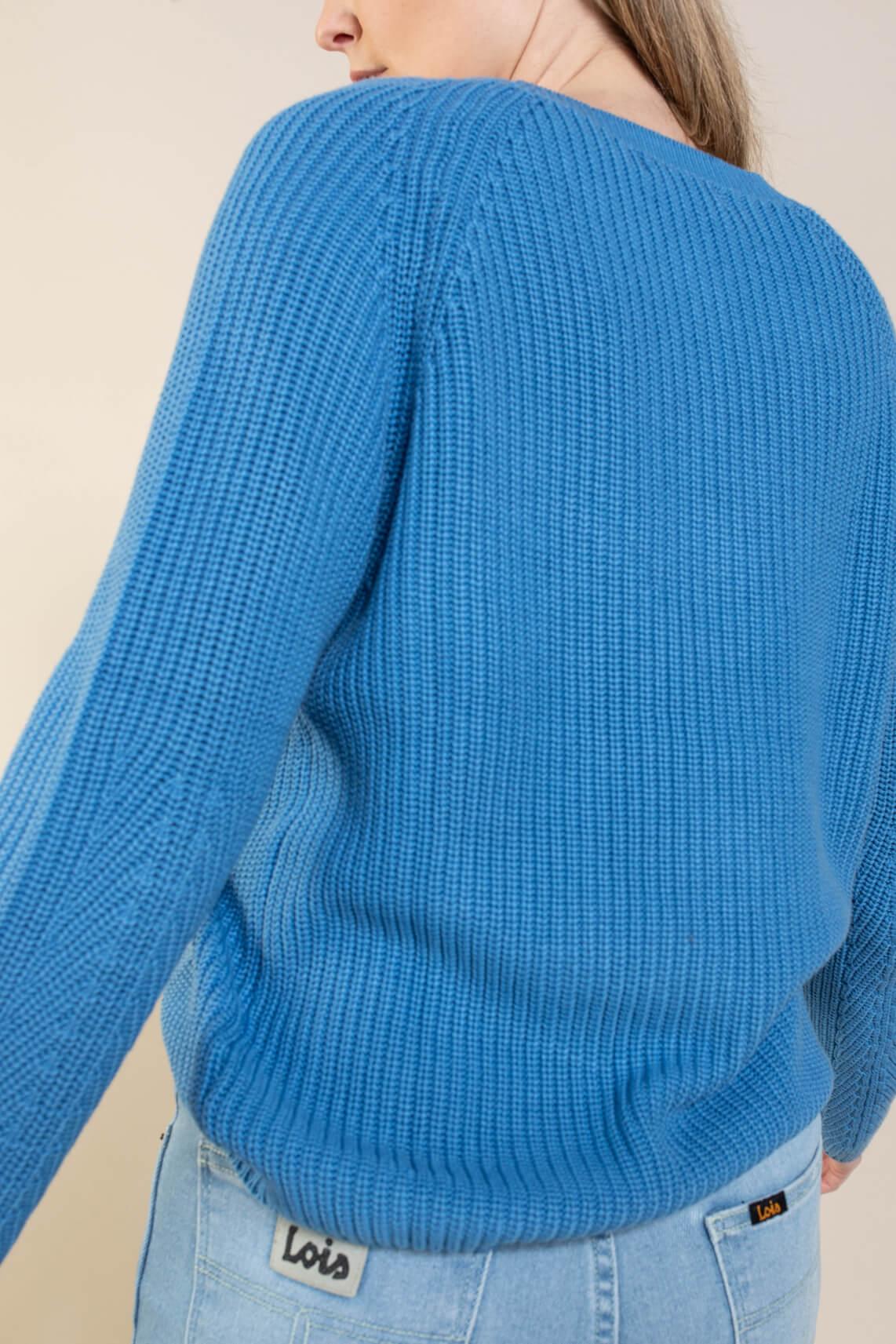 Anna Dames Grofgebreide trui Blauw