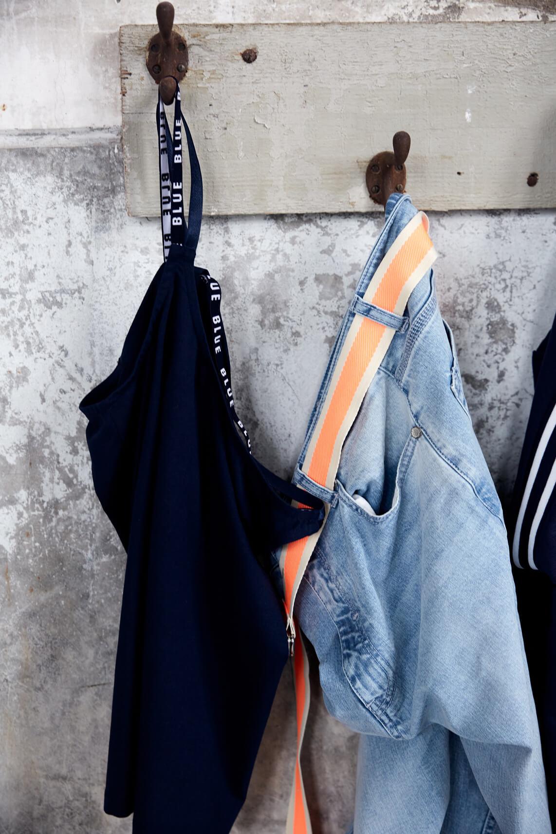 Anna Blue Dames Ceintuur met streep Oranje