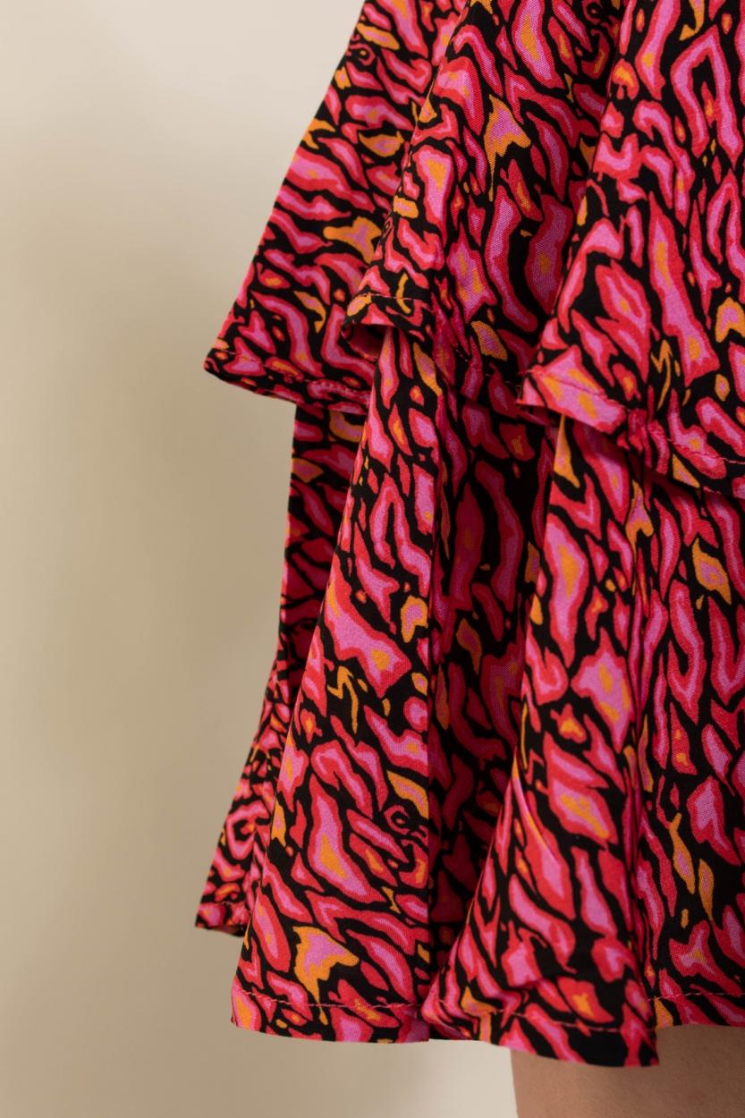 Anna Dames Rokje met print Roze