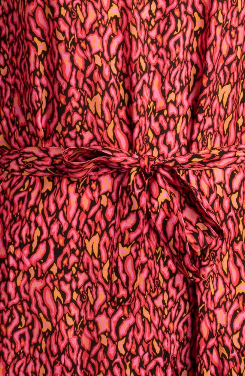 Anna Dames Jurk met print Roze