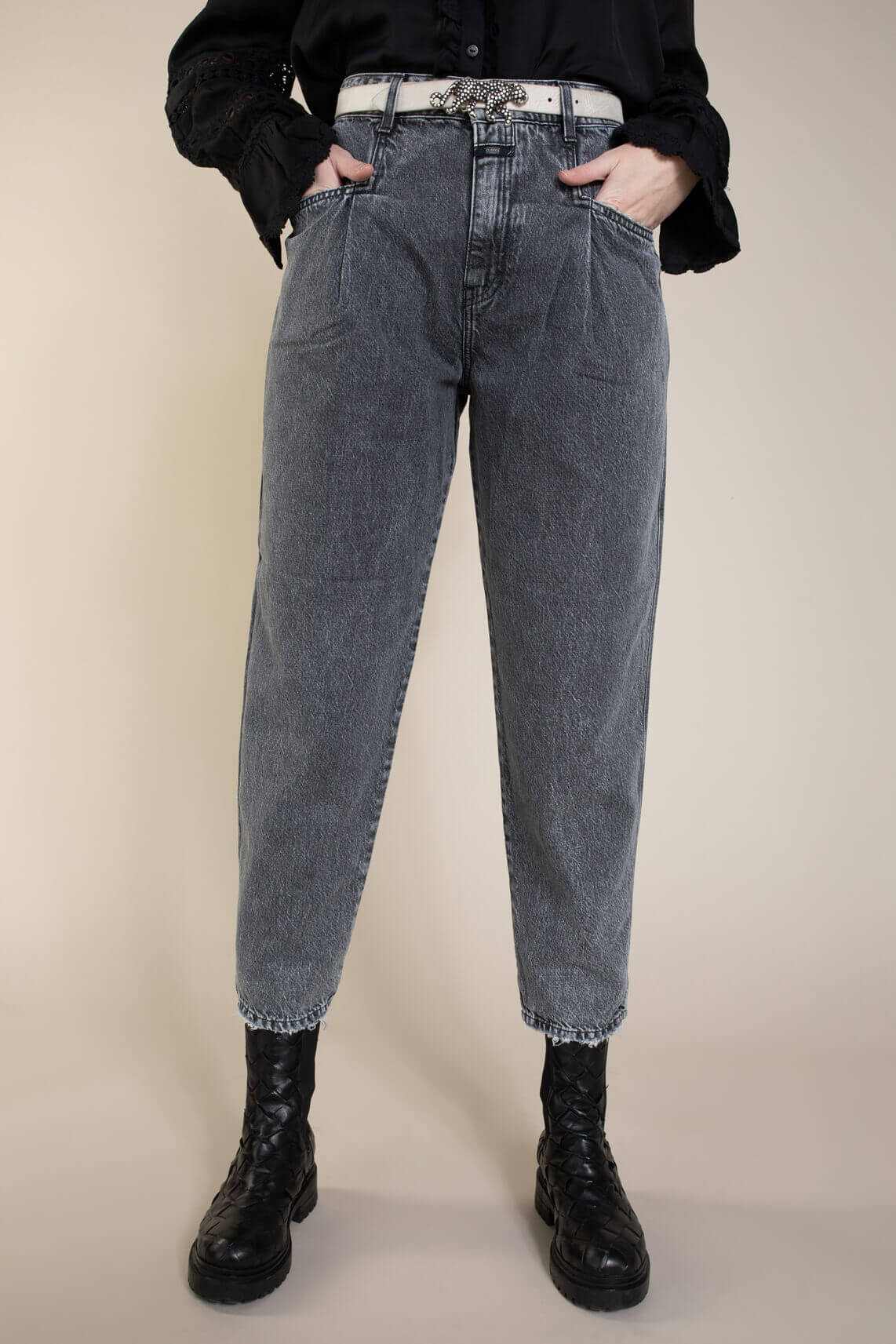 Closed Dames High-waist jeans Grijs